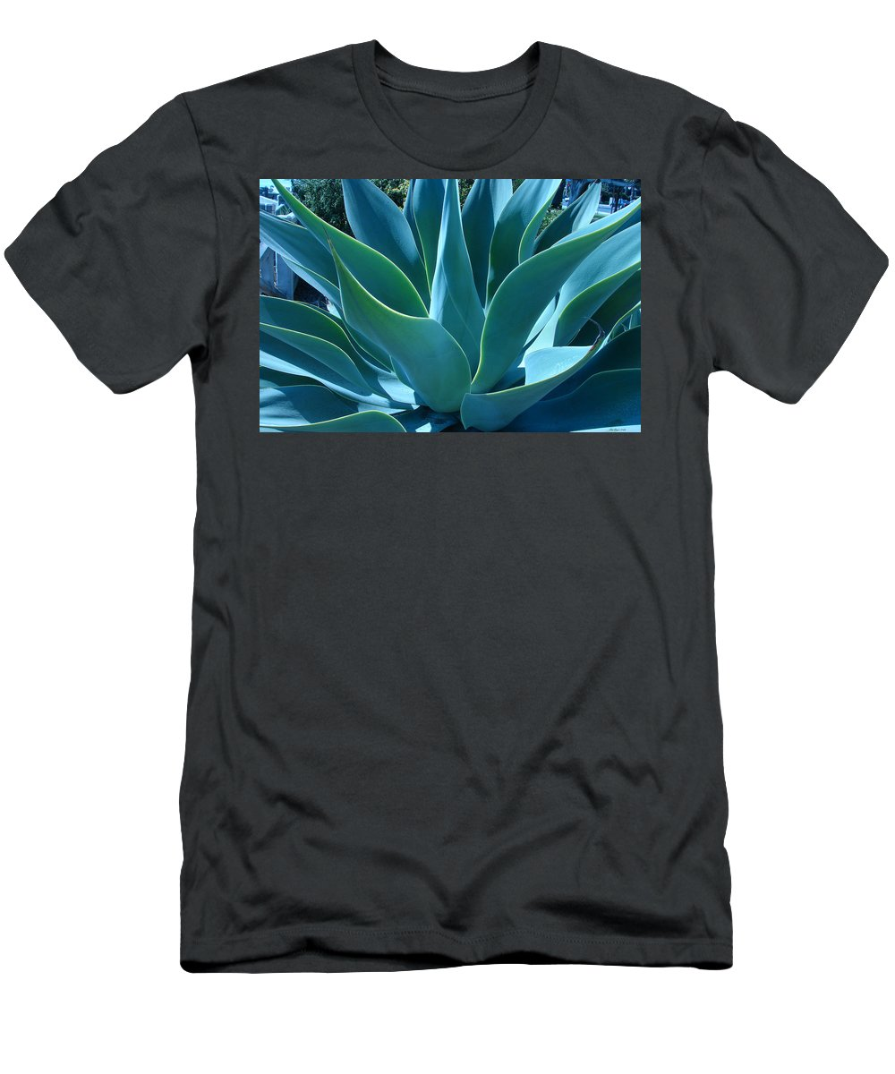 Abstract Men's T-Shirt (Athletic Fit) featuring the photograph Aloe 2 by Lois Boyce