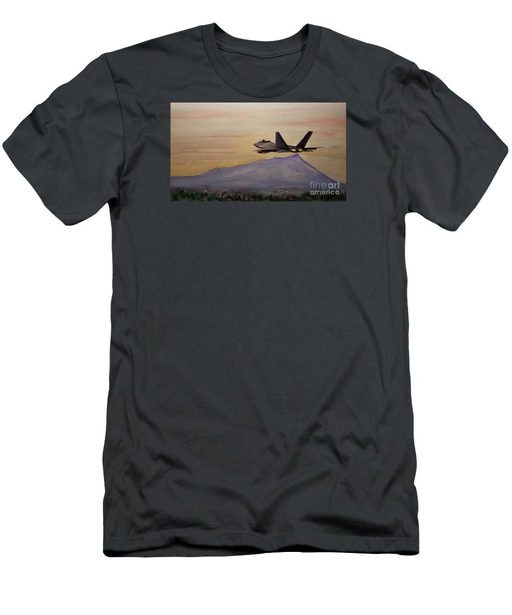 Redfern Men's T-Shirt (Athletic Fit) featuring the painting Aloha Honolulu by Lynn Redfern