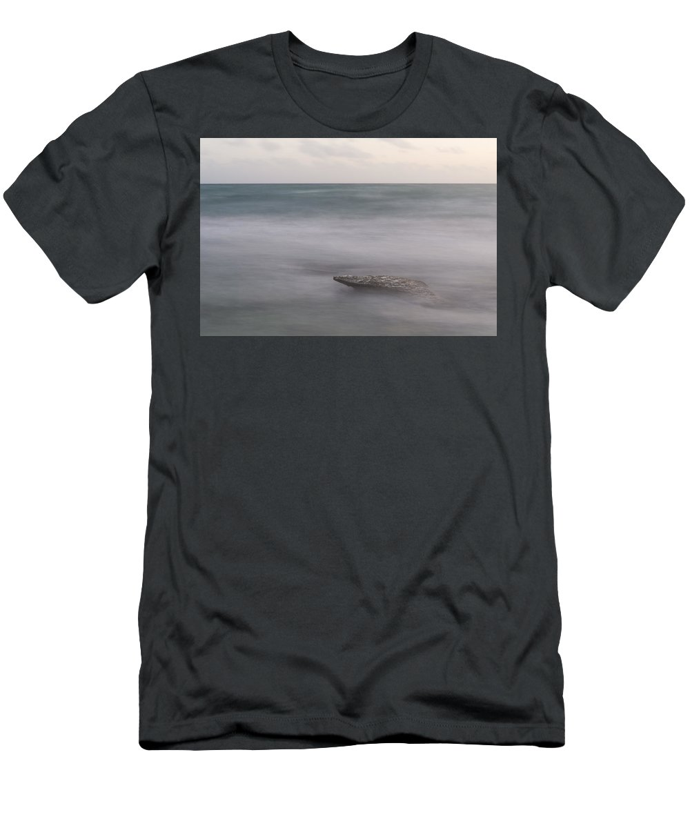 Beach Men's T-Shirt (Athletic Fit) featuring the photograph Alone by Alex Lapidus