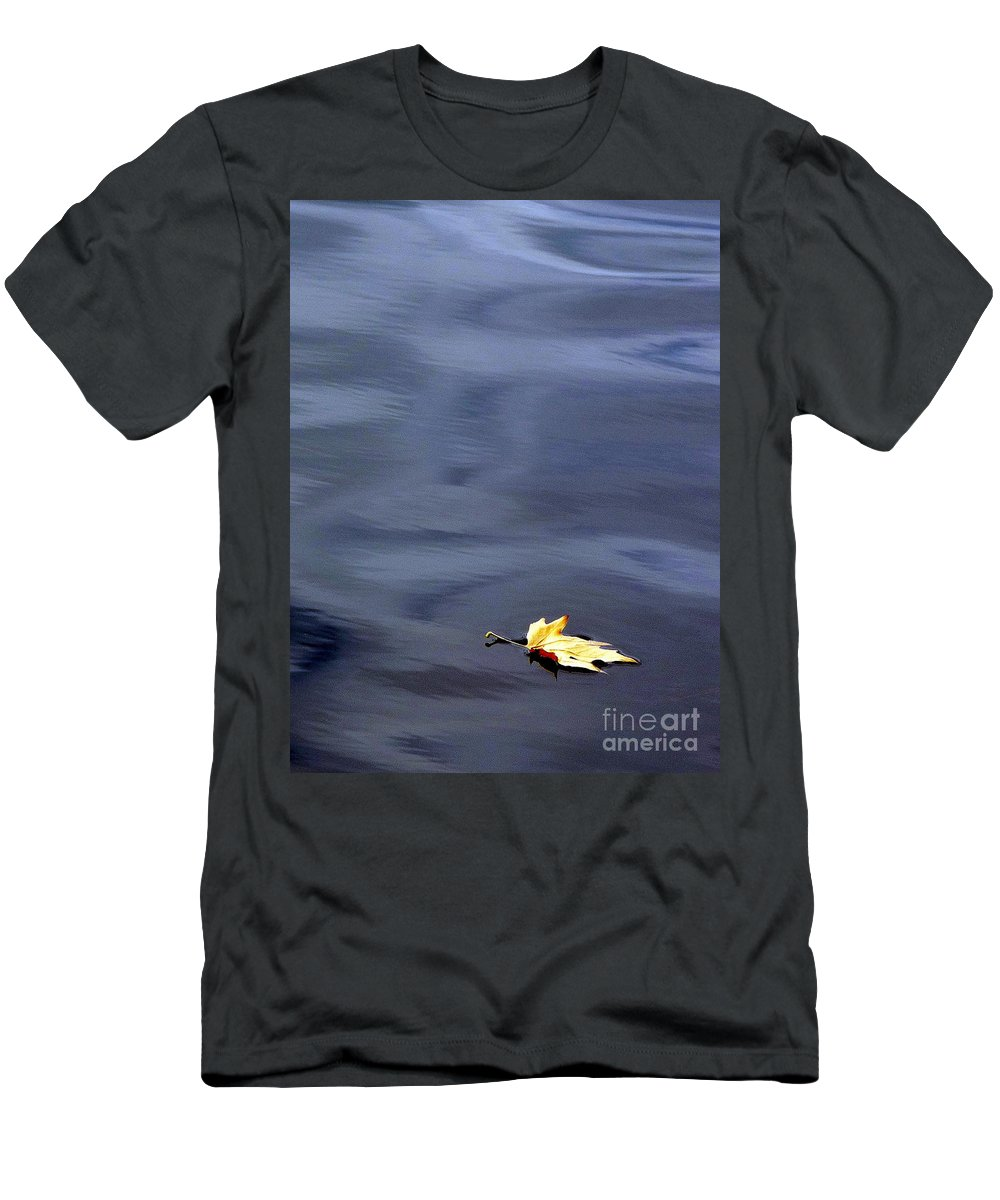 River Men's T-Shirt (Athletic Fit) featuring the photograph Alone by Jo Hoden