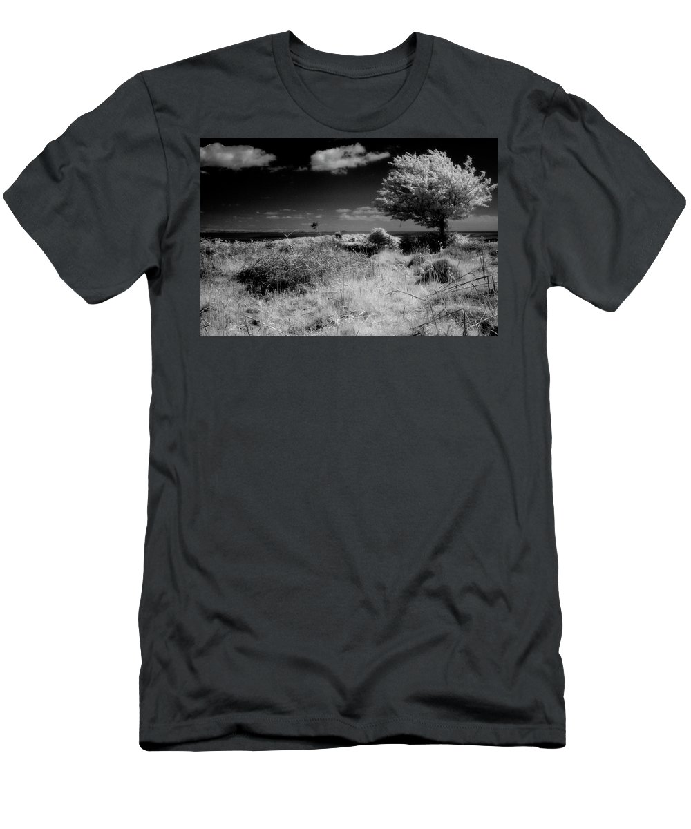 Infrared Men's T-Shirt (Athletic Fit) featuring the photograph Alone by Keith Elliott