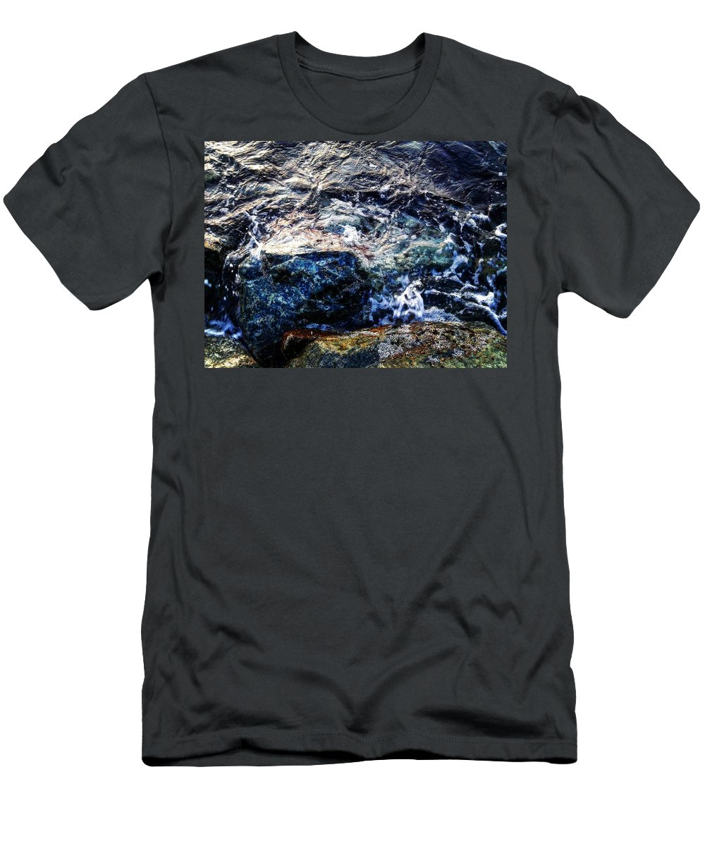 Men's T-Shirt (Athletic Fit) featuring the pyrography Alone With Sea by Eliass Lavey