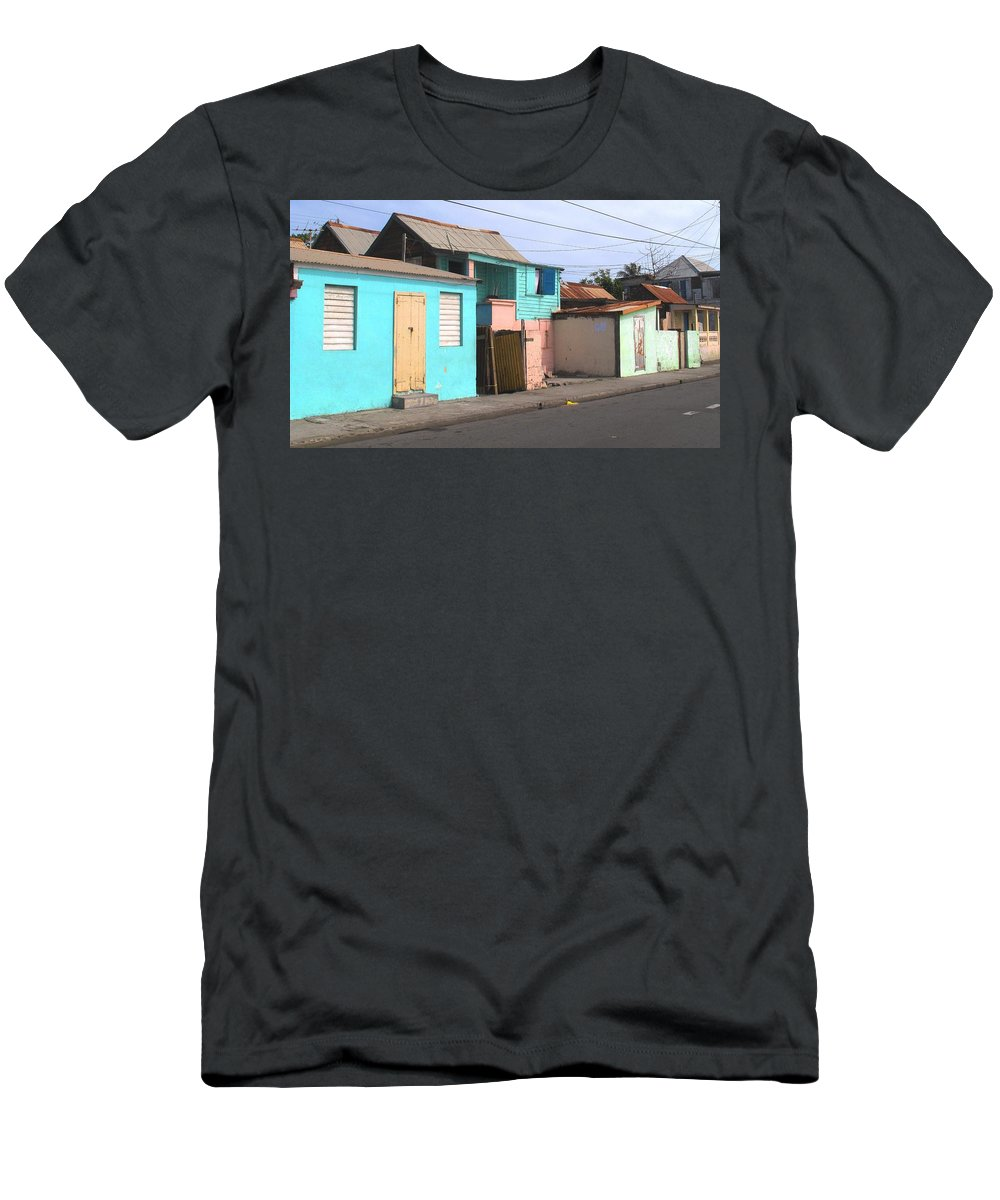 St Kitts Men's T-Shirt (Athletic Fit) featuring the photograph Along Bay Road by Ian MacDonald