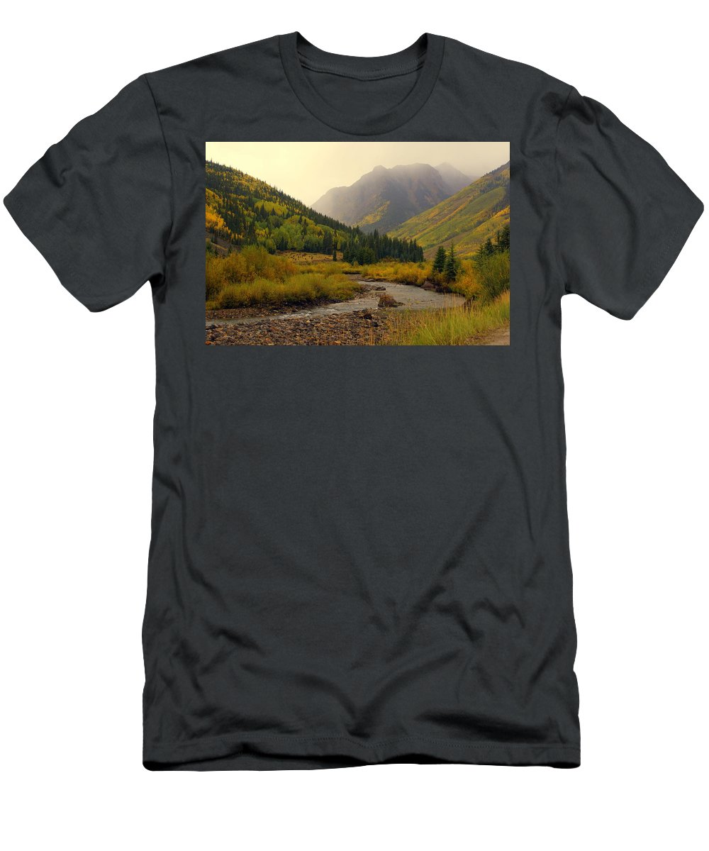 Colorado Men's T-Shirt (Athletic Fit) featuring the photograph Alpine Loop Fall by Marty Koch