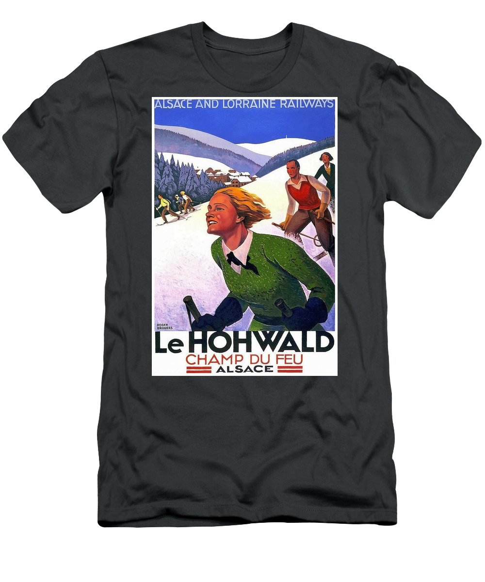 Alsace Men's T-Shirt (Athletic Fit) featuring the painting Alsace, Lorraine Railways, France by Long Shot