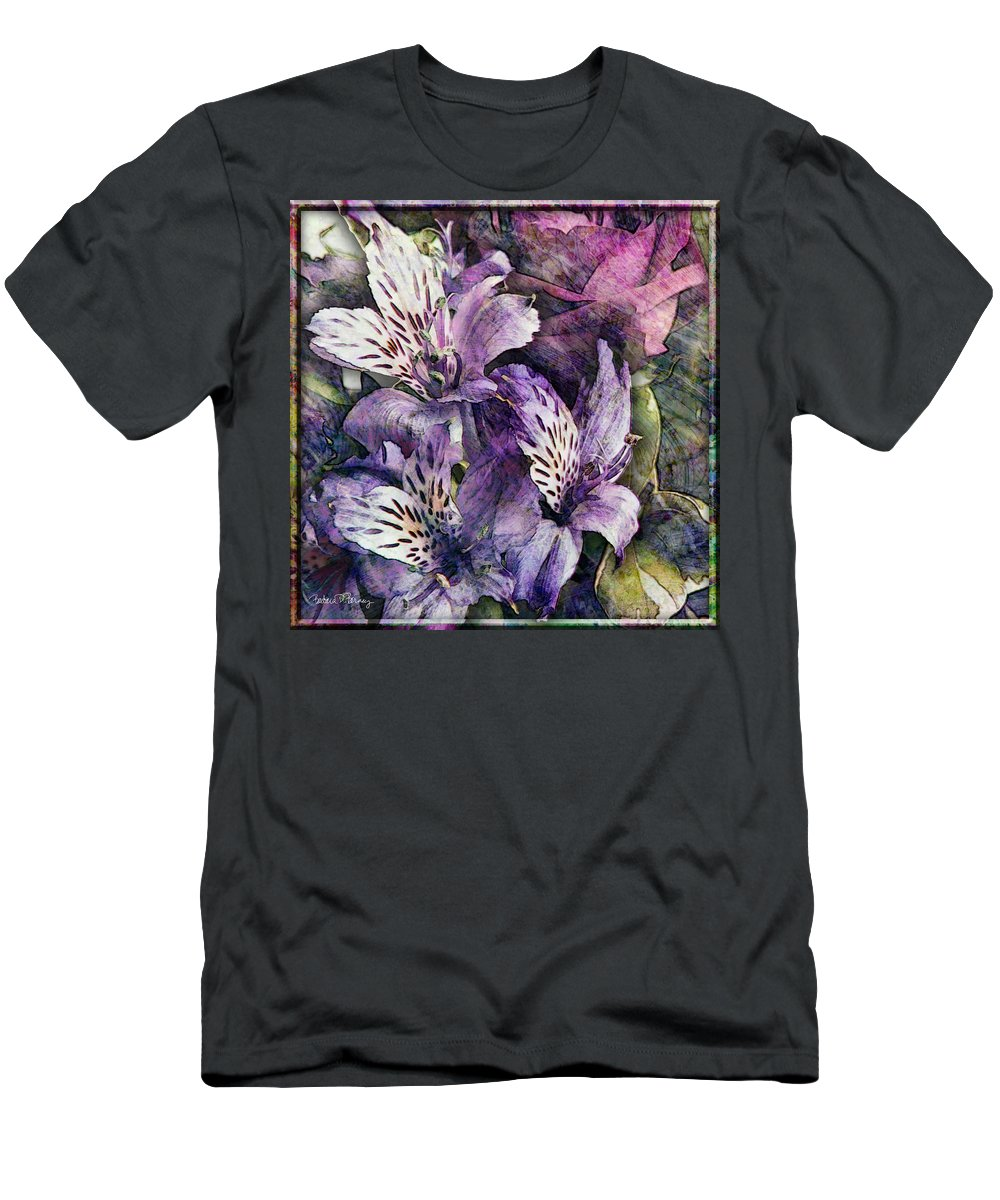 Flowers Men's T-Shirt (Athletic Fit) featuring the digital art Alstroemeria by Barbara Berney
