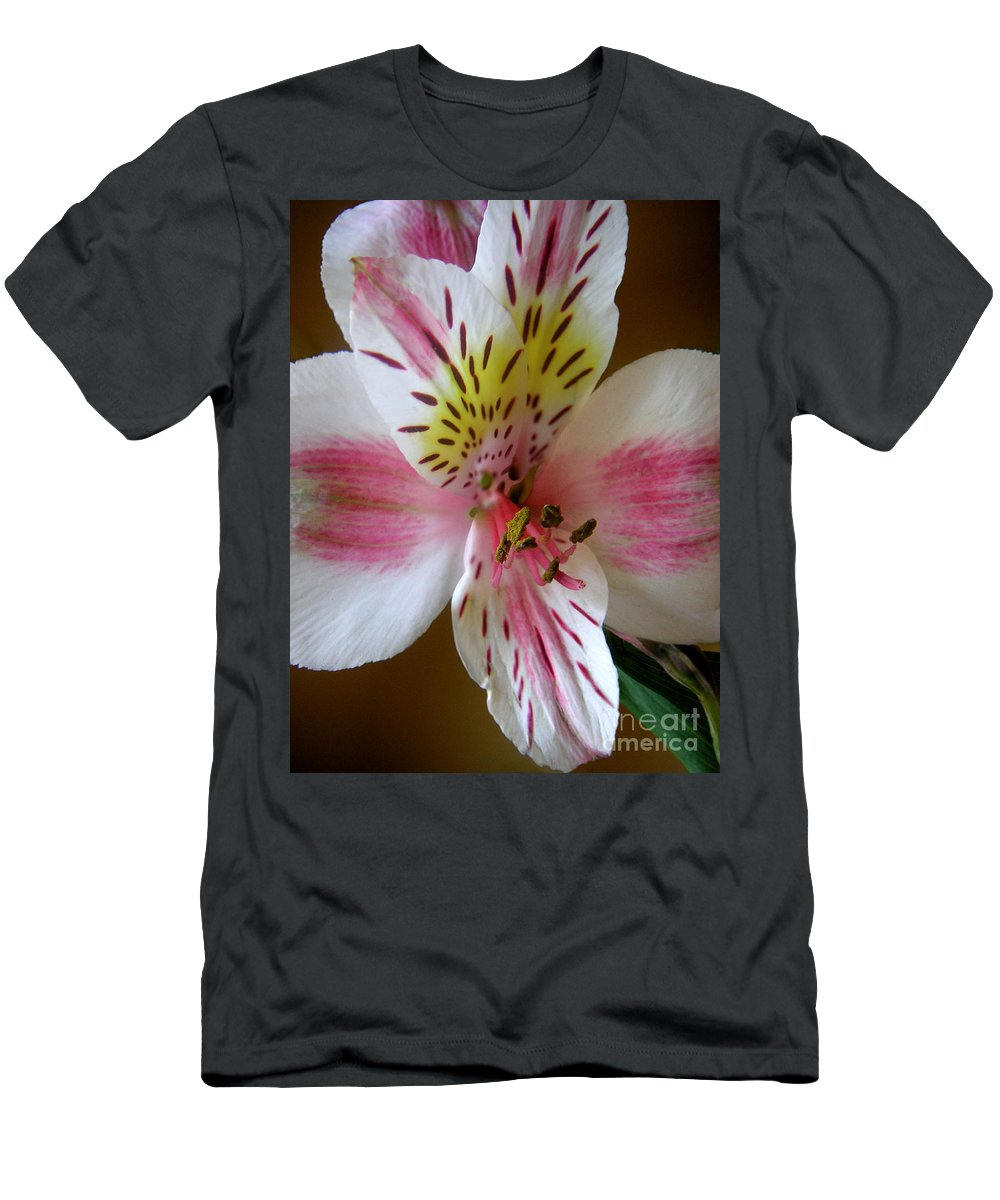 Nature T-Shirt featuring the photograph Alstroemerias - Close by Lucyna A M Green