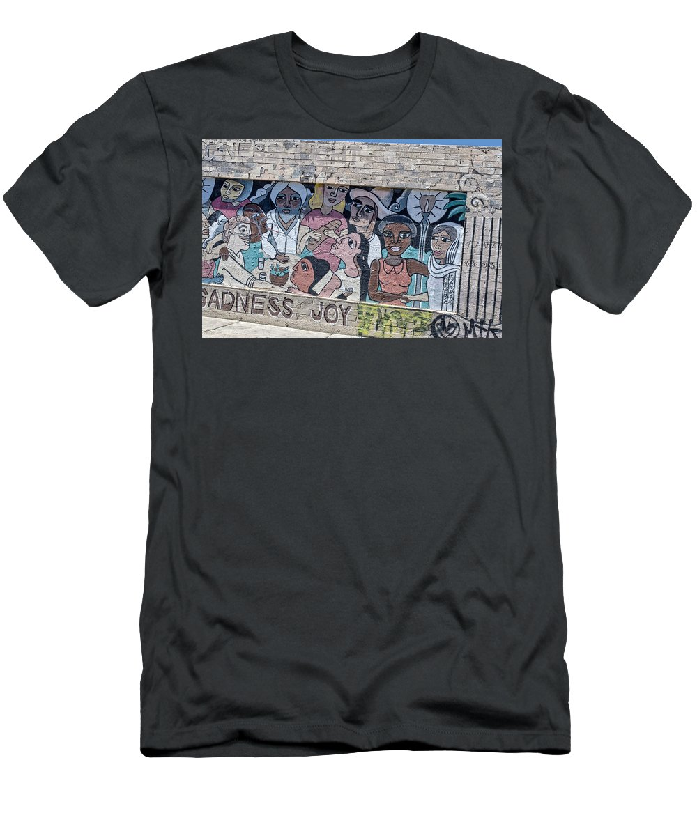 Street Men's T-Shirt (Athletic Fit) featuring the photograph American Graffiti by Louise Hill