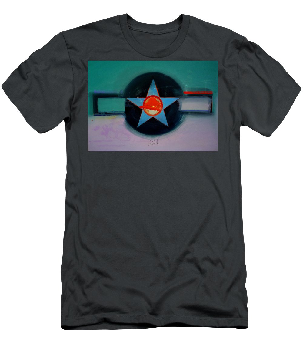 Star Men's T-Shirt (Athletic Fit) featuring the painting American Landscape by Charles Stuart