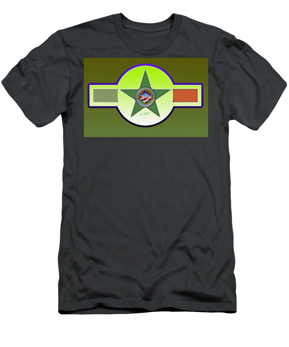 Insignia T-Shirt featuring the painting American Olive by Charles Stuart