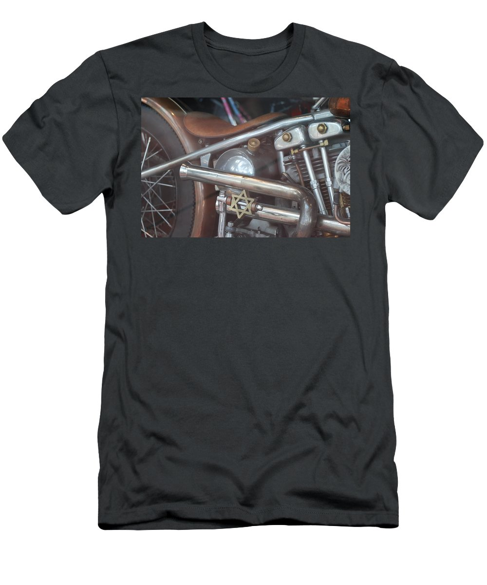 Motorcycle Men's T-Shirt (Athletic Fit) featuring the photograph Ami's Bike by Rob Hans