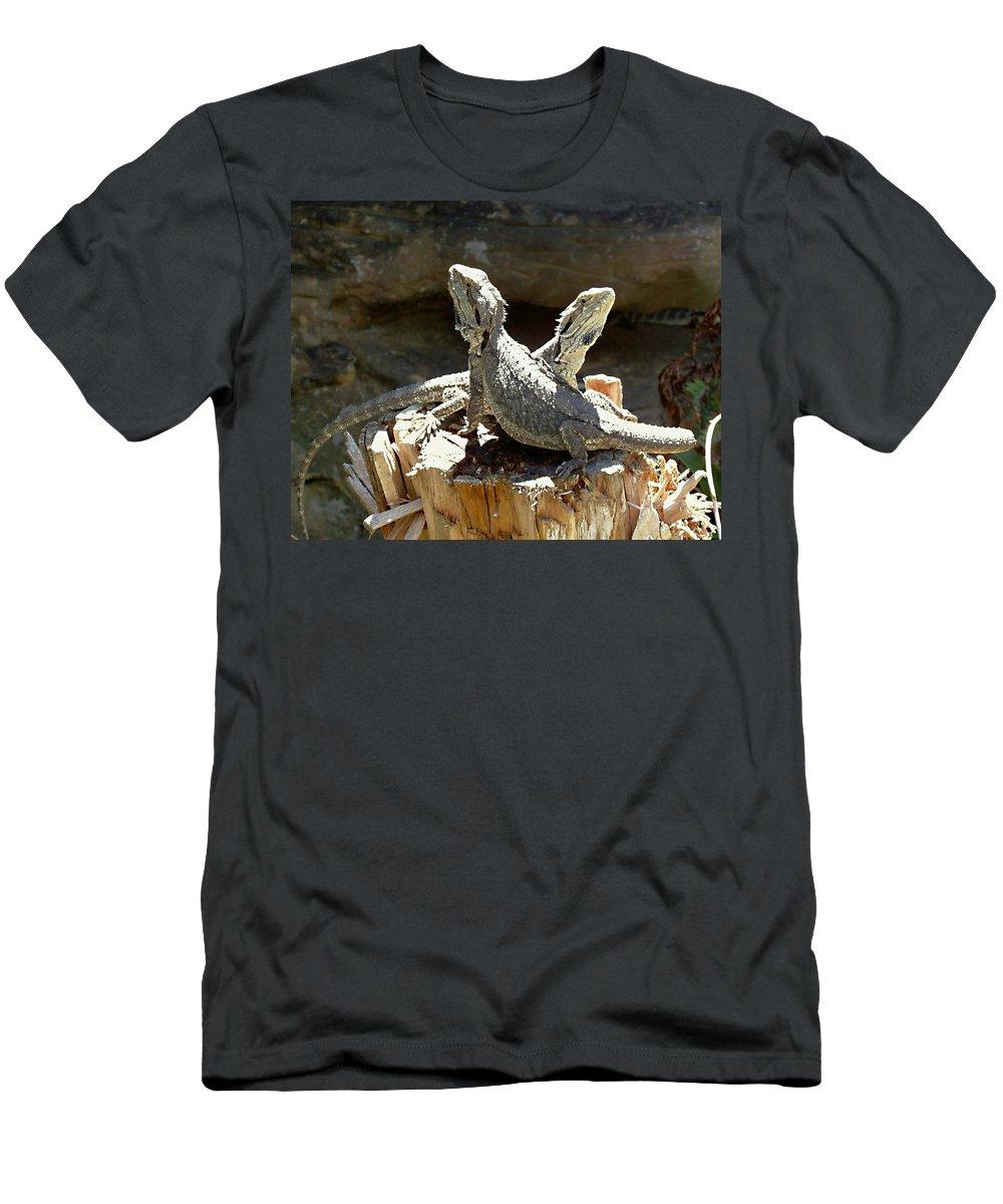 Amphion And Zethus Men's T-Shirt (Athletic Fit) featuring the photograph Amphion And Zethus by Ellen Henneke