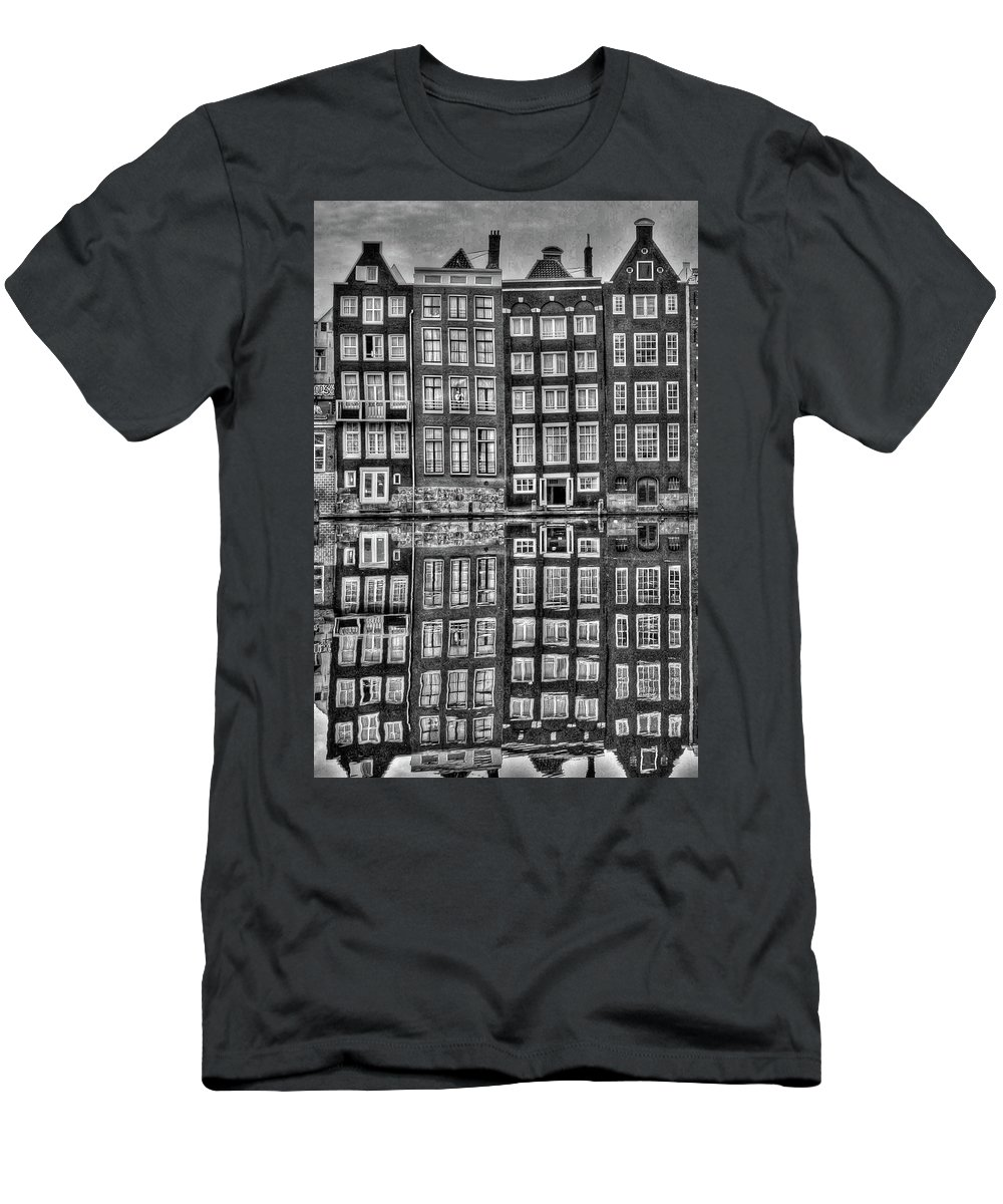Amsterdam Men's T-Shirt (Athletic Fit) featuring the photograph Amsterdam Reflections by Bill Lindsay