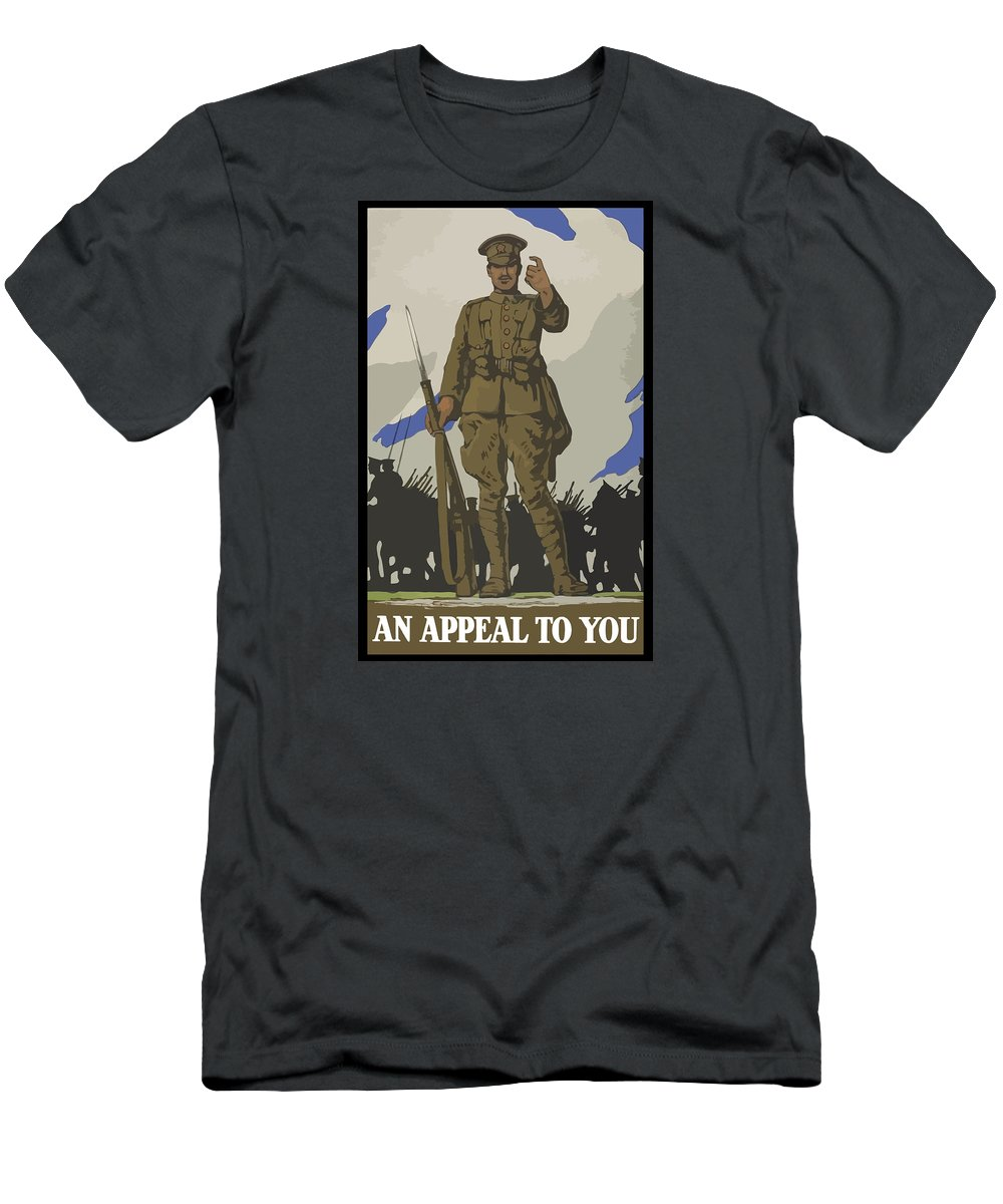 Propaganda Men's T-Shirt (Athletic Fit) featuring the painting An Appeal To You by War Is Hell Store