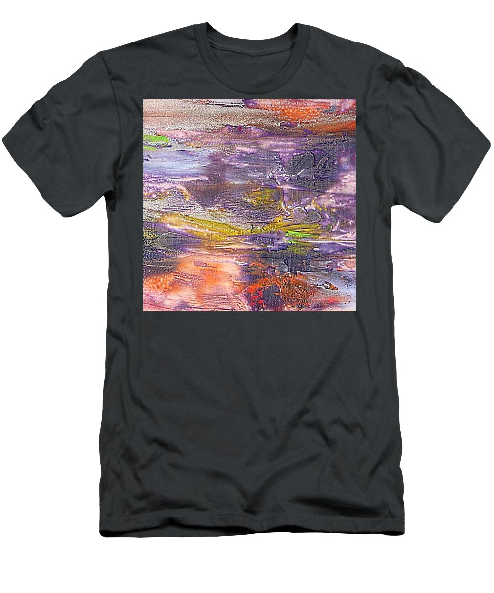 Old Board Men's T-Shirt (Athletic Fit) featuring the painting An Old Board by Dragica Micki Fortuna