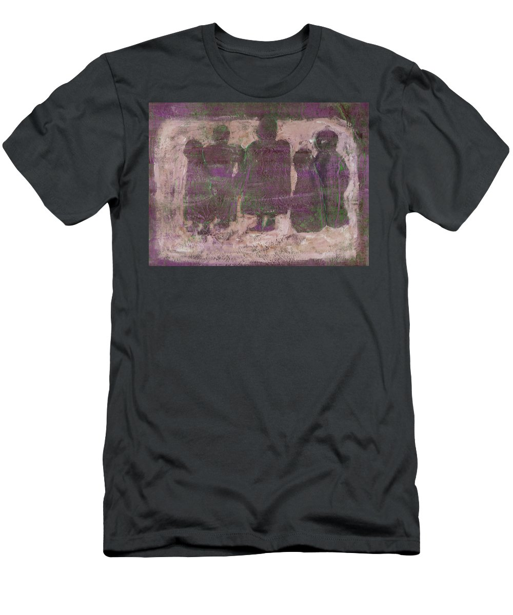 Ancestors Men's T-Shirt (Athletic Fit) featuring the painting Ancestors by Wayne Potrafka