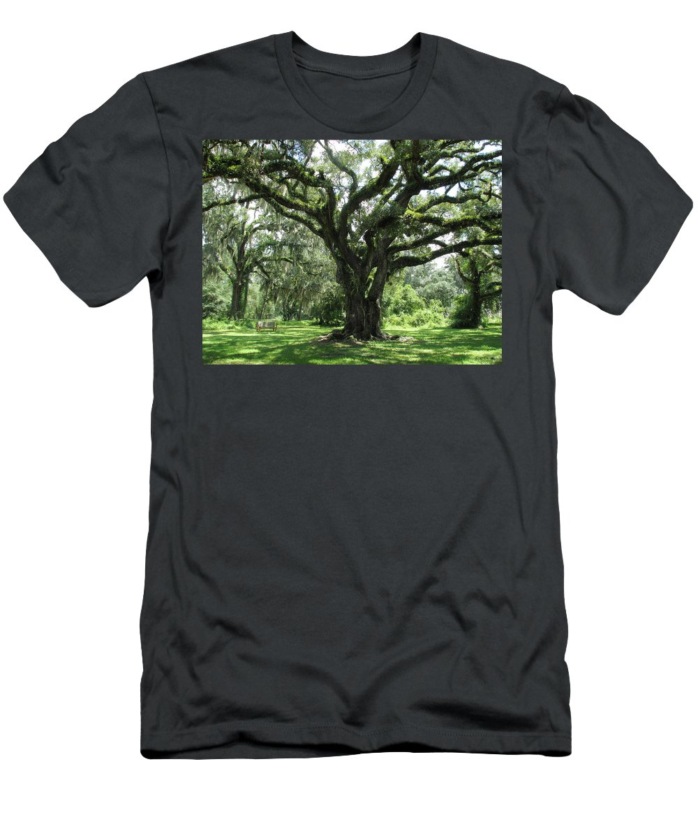 Nature Men's T-Shirt (Athletic Fit) featuring the photograph Ancestral Oak by Peg Urban