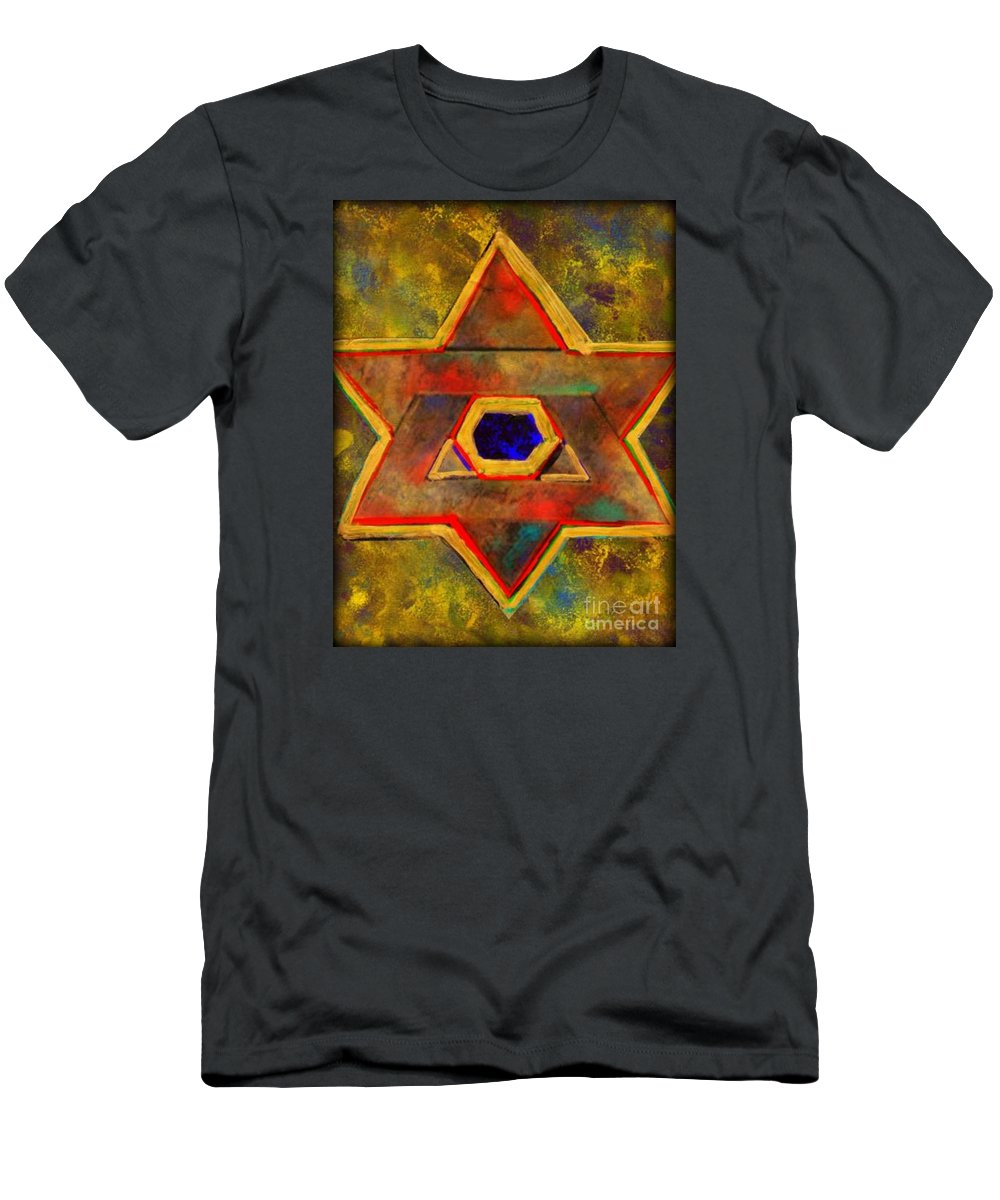 Ancient Star T-Shirt featuring the painting Ancient Star by Wbk