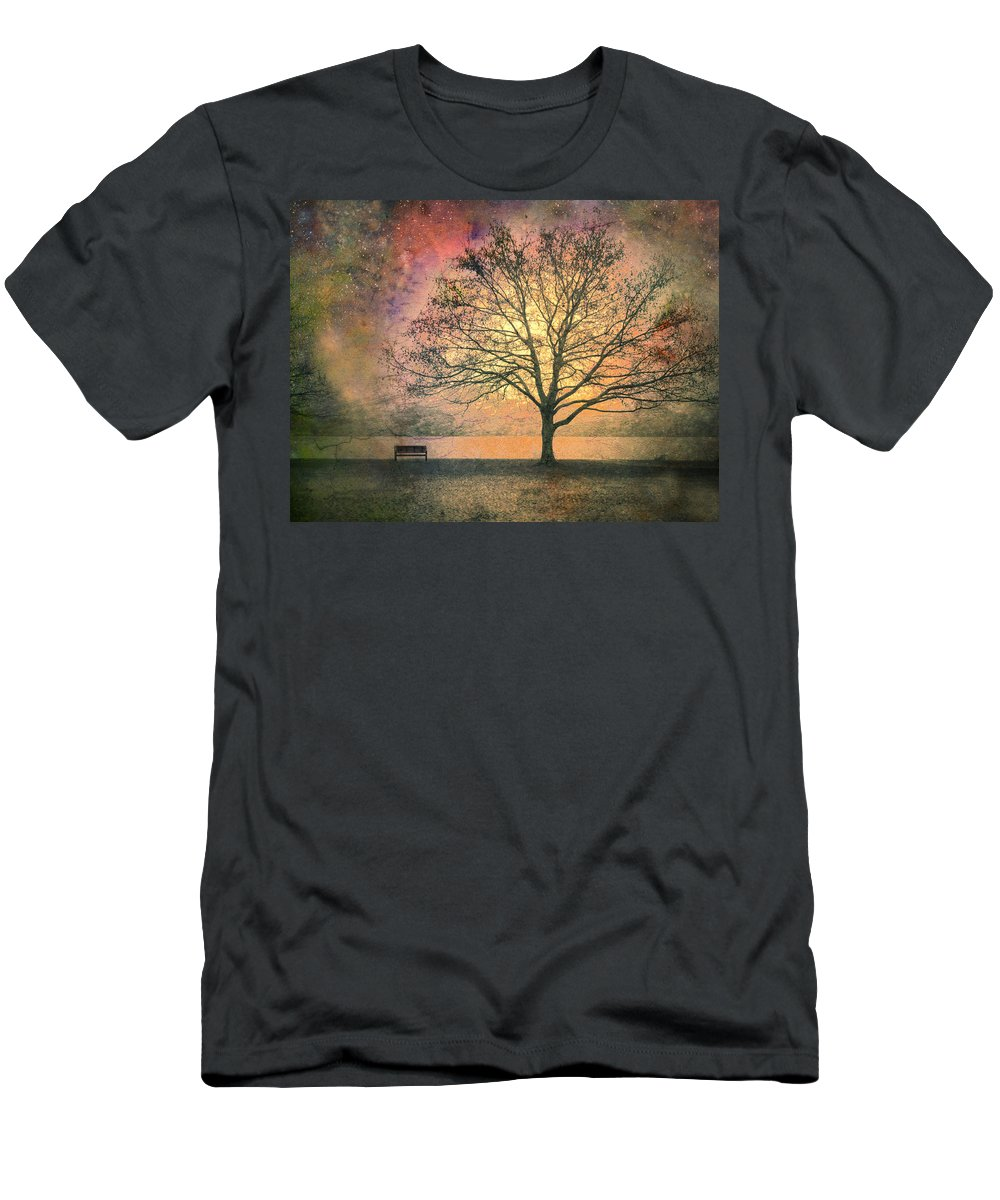Tree Men's T-Shirt (Athletic Fit) featuring the photograph And The Morning Is Perfect In All Her Measured Wrinkles by Tara Turner