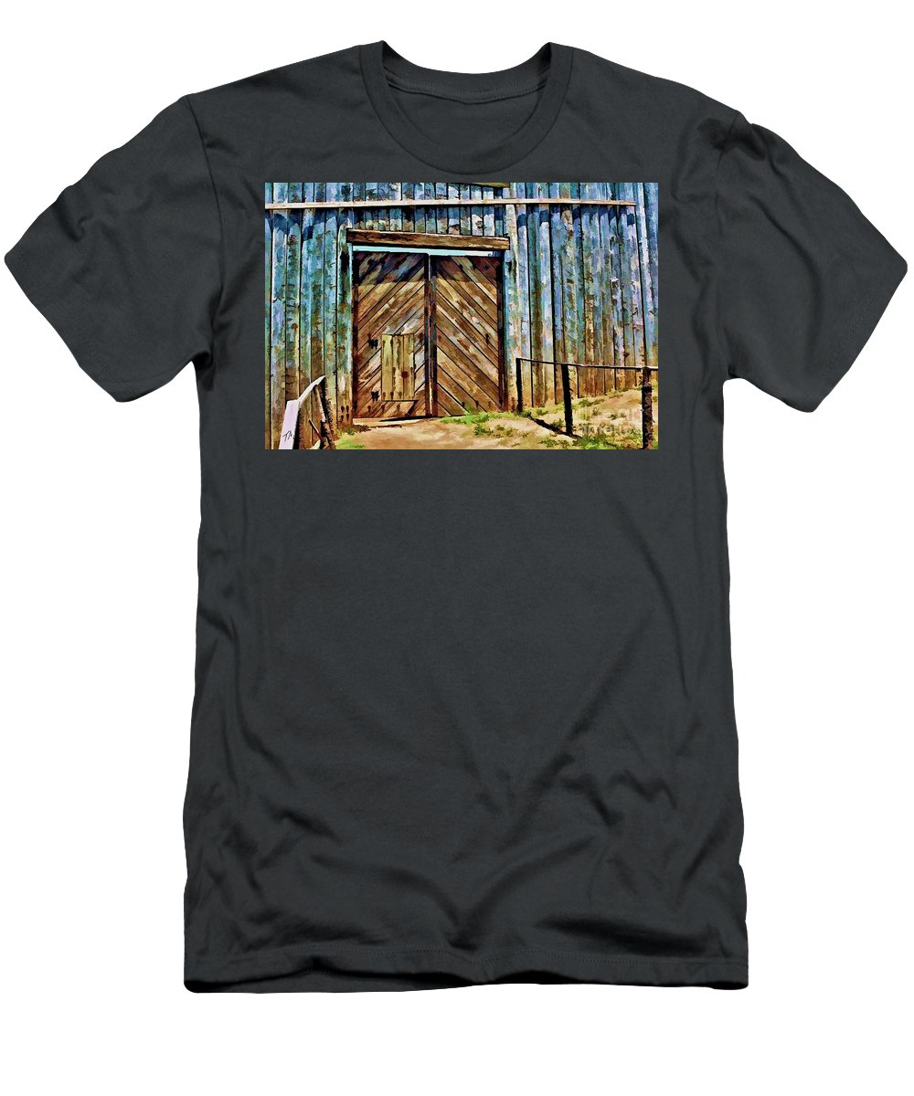 Andersonville Men's T-Shirt (Athletic Fit) featuring the digital art Andersonville Gateway To Hell by Tommy Anderson