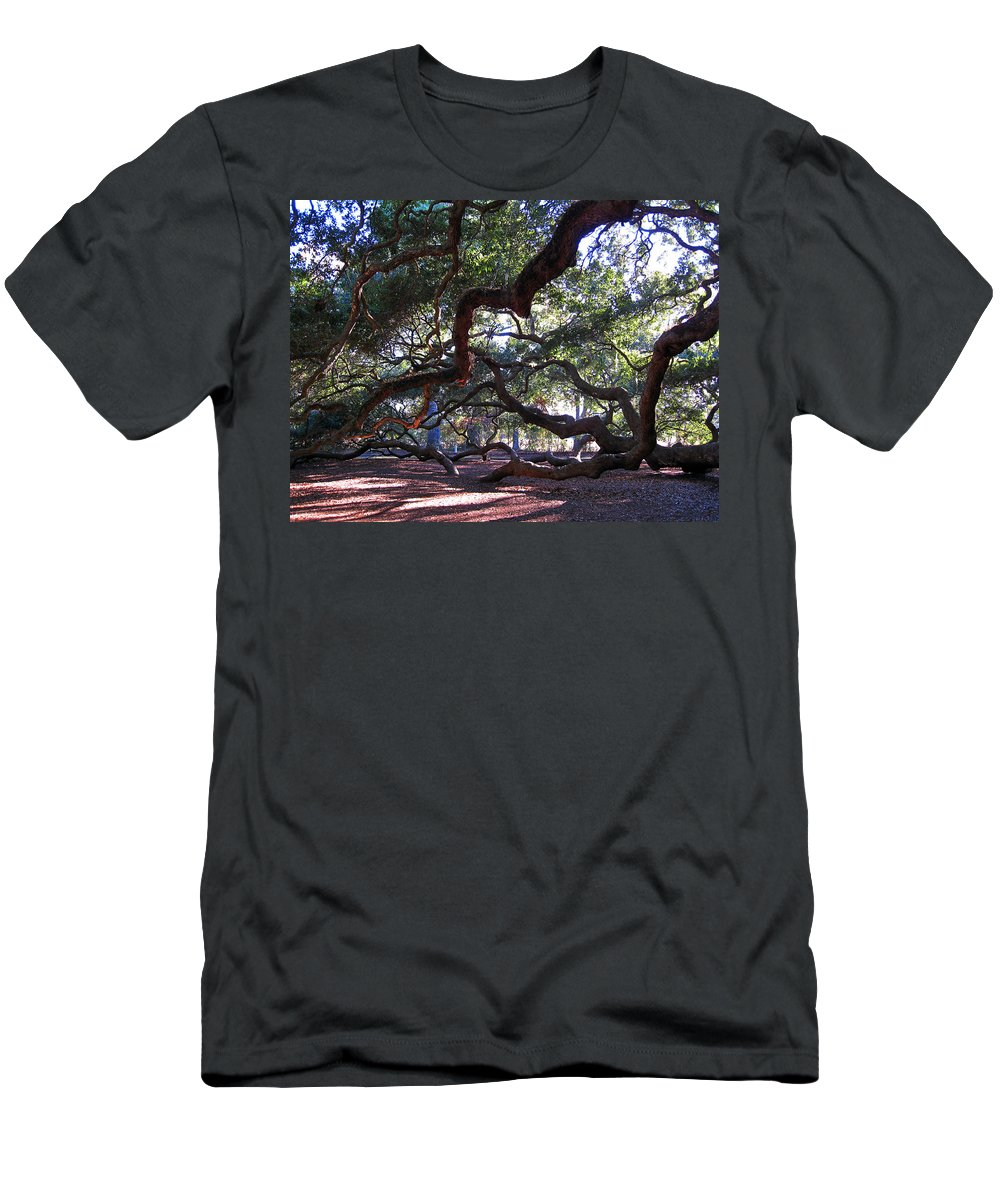 Photography Men's T-Shirt (Athletic Fit) featuring the photograph Angel Oak Side View by Susanne Van Hulst