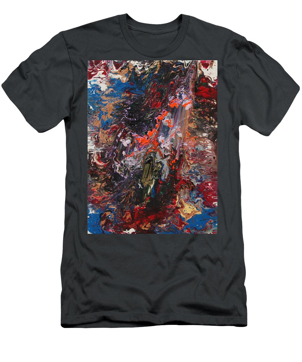 Fusionart Men's T-Shirt (Athletic Fit) featuring the painting Angel Rising by Ralph White