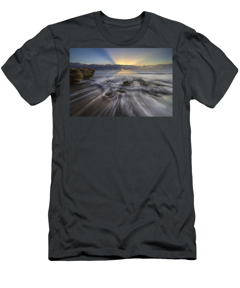 Blowing Men's T-Shirt (Athletic Fit) featuring the photograph Angel's Walk by Debra and Dave Vanderlaan