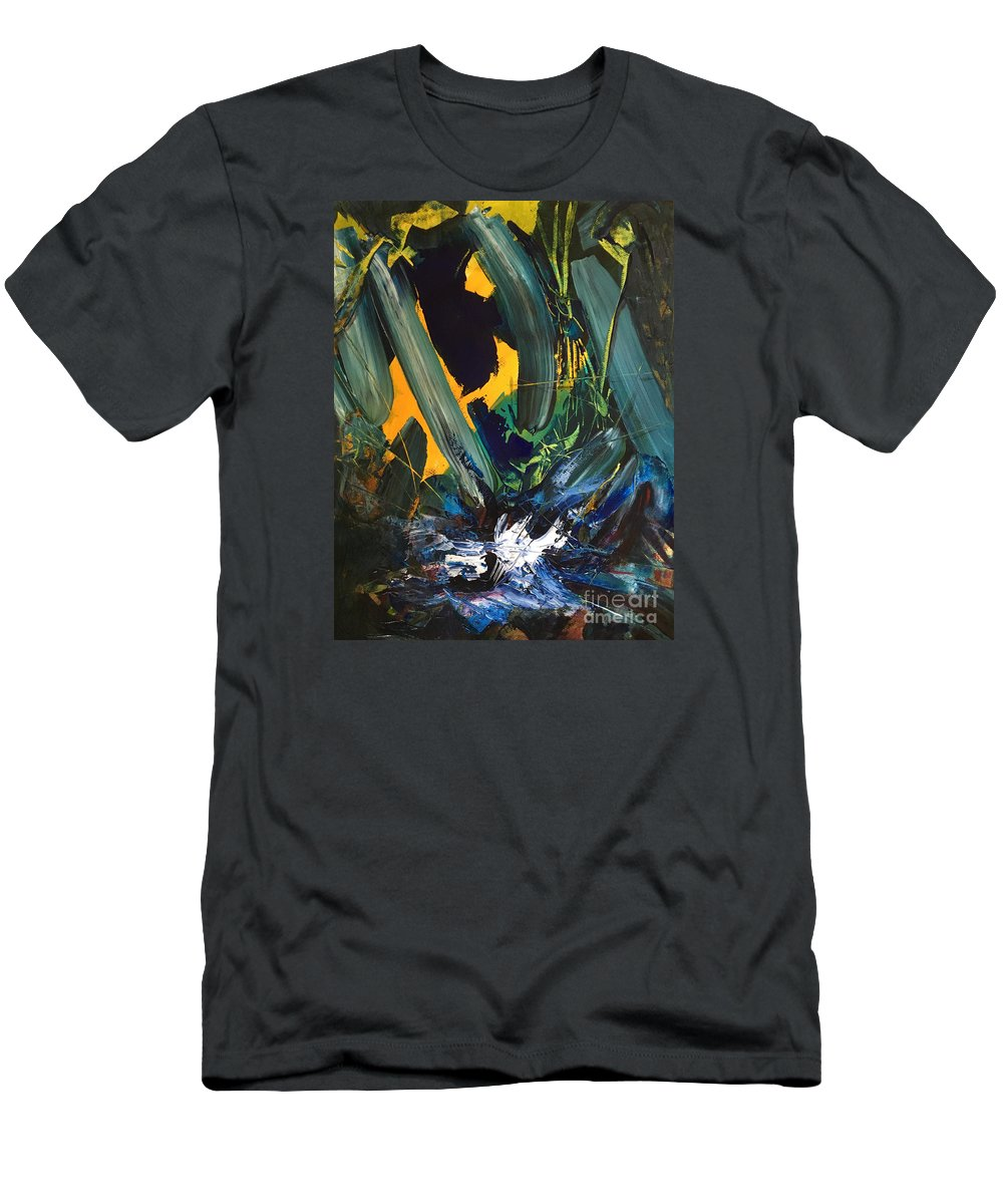 Abstract Men's T-Shirt (Athletic Fit) featuring the painting Anger And Bad Temper by Uwe Hoche