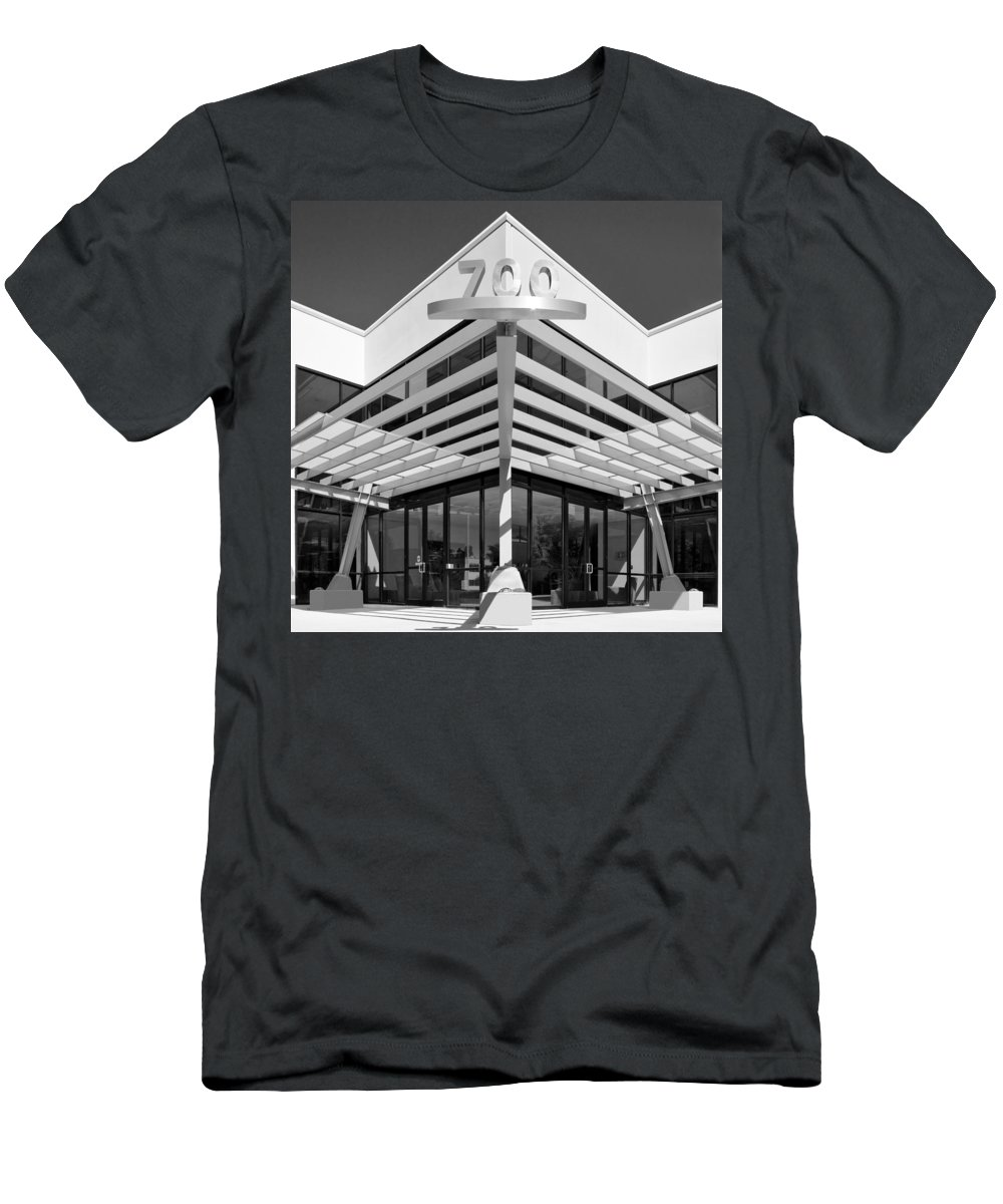 Black And White Men's T-Shirt (Athletic Fit) featuring the photograph Angles And Symmetry by Kelley King
