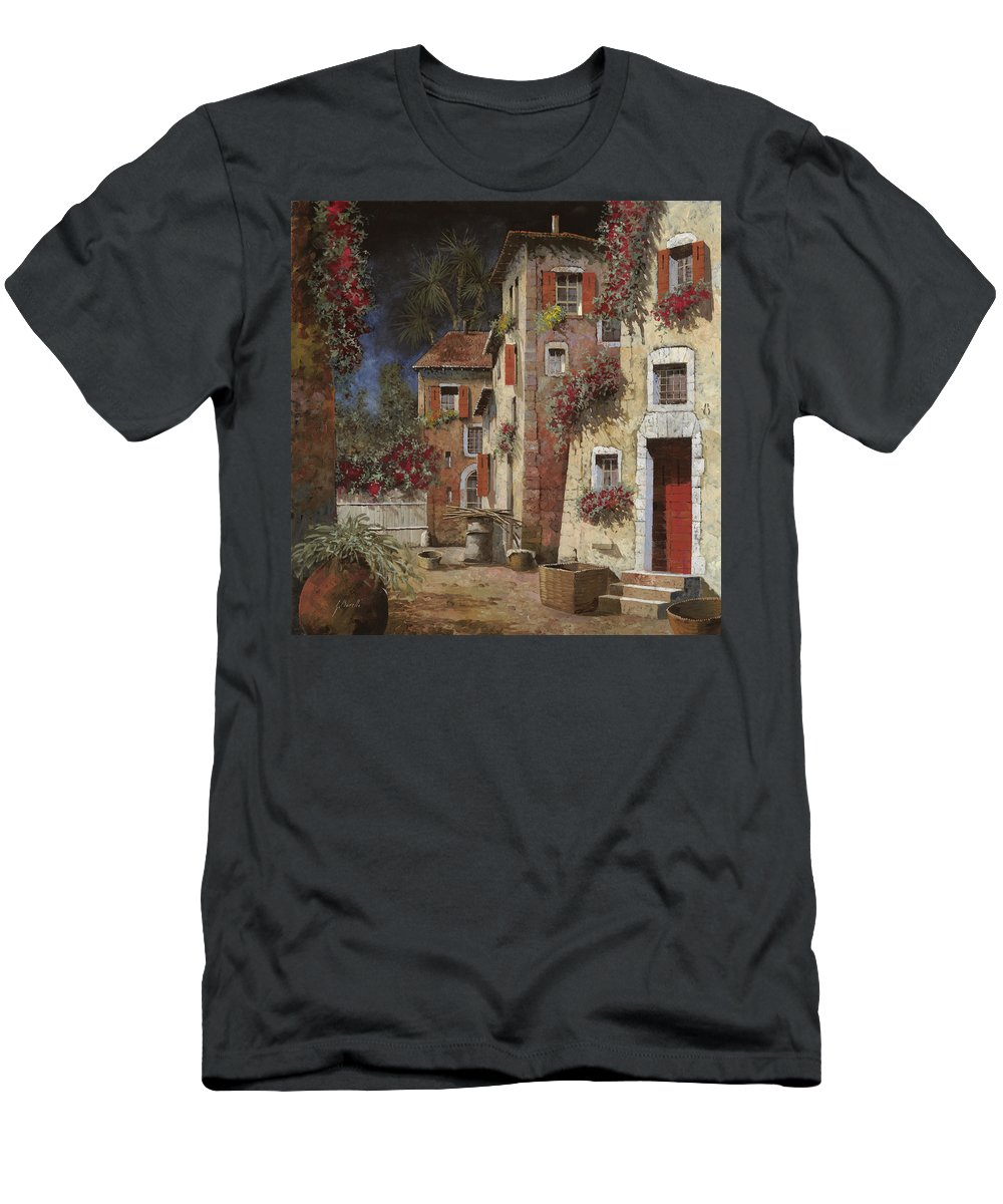 Night Men's T-Shirt (Athletic Fit) featuring the painting Angolo Buio by Guido Borelli