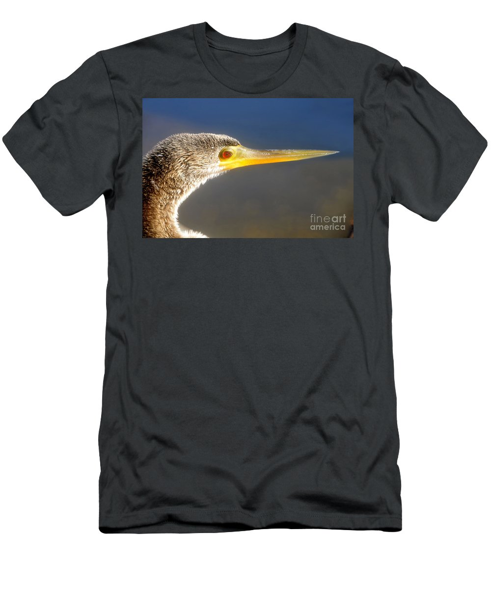 Anhinga Men's T-Shirt (Athletic Fit) featuring the photograph Anhinga Detail by David Lee Thompson