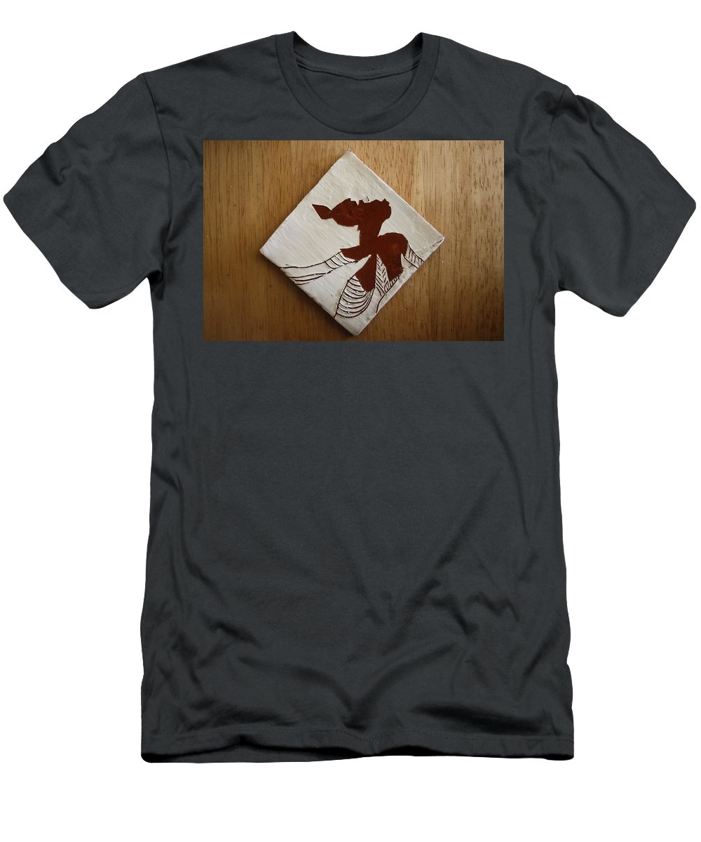 Jesus Men's T-Shirt (Athletic Fit) featuring the ceramic art Anne Marie - Tile by Gloria Ssali