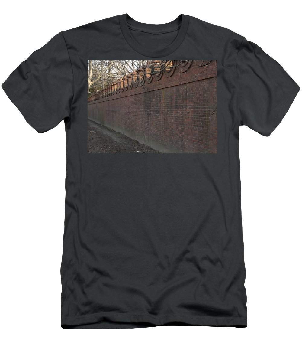 Wall Men's T-Shirt (Athletic Fit) featuring the photograph Another Brick In The Wall by Steven Natanson