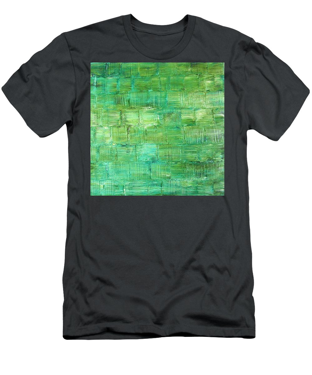 Another Place Men's T-Shirt (Athletic Fit) featuring the painting Another Place by Dawn Hough Sebaugh