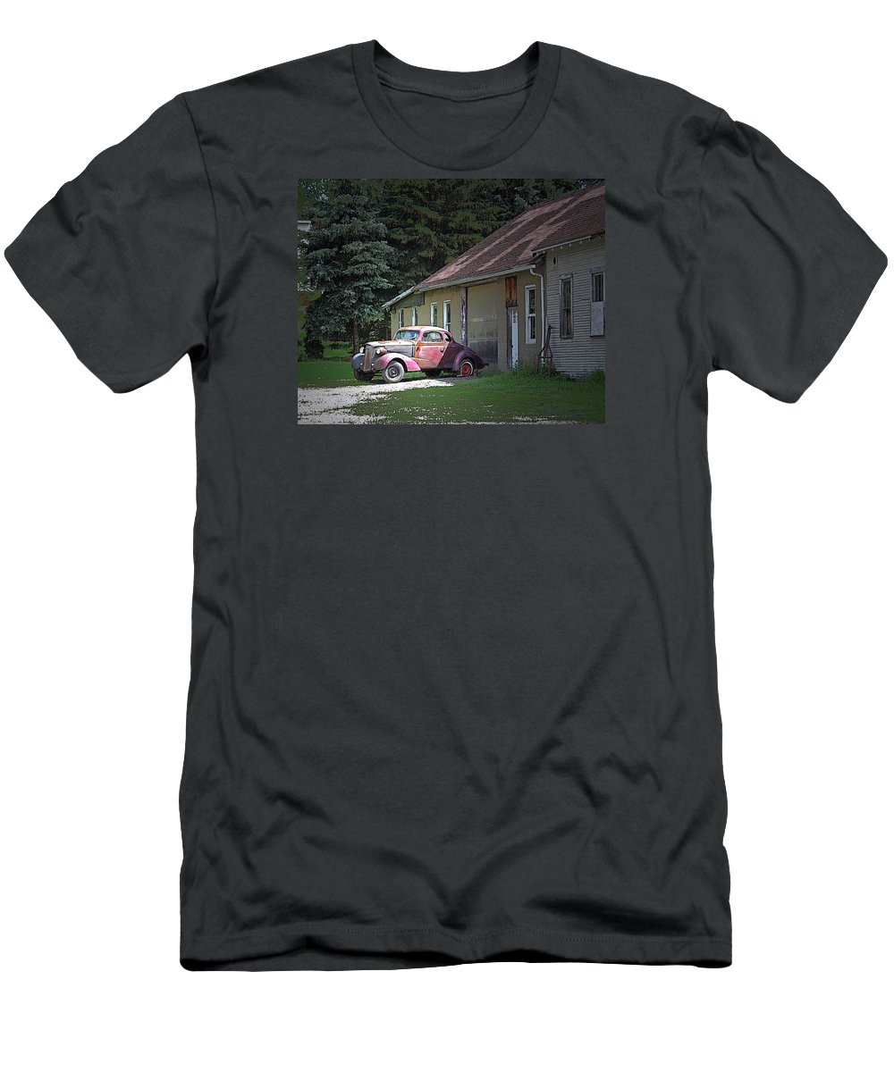 Antique Men's T-Shirt (Athletic Fit) featuring the photograph Antique Car by Ronald Fleischer