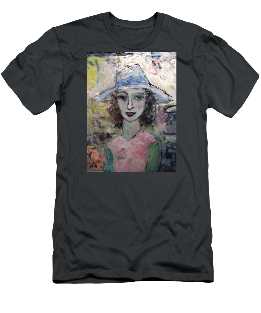 Pastel Men's T-Shirt (Athletic Fit) featuring the painting Antoinelle by Mykul Anjelo