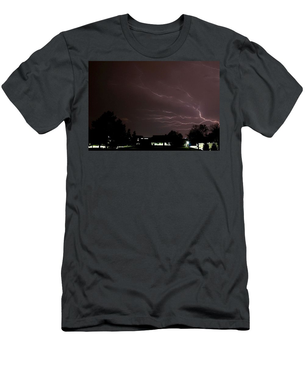 Storm Men's T-Shirt (Athletic Fit) featuring the photograph Anvil Crawler by Shoeless Wonder