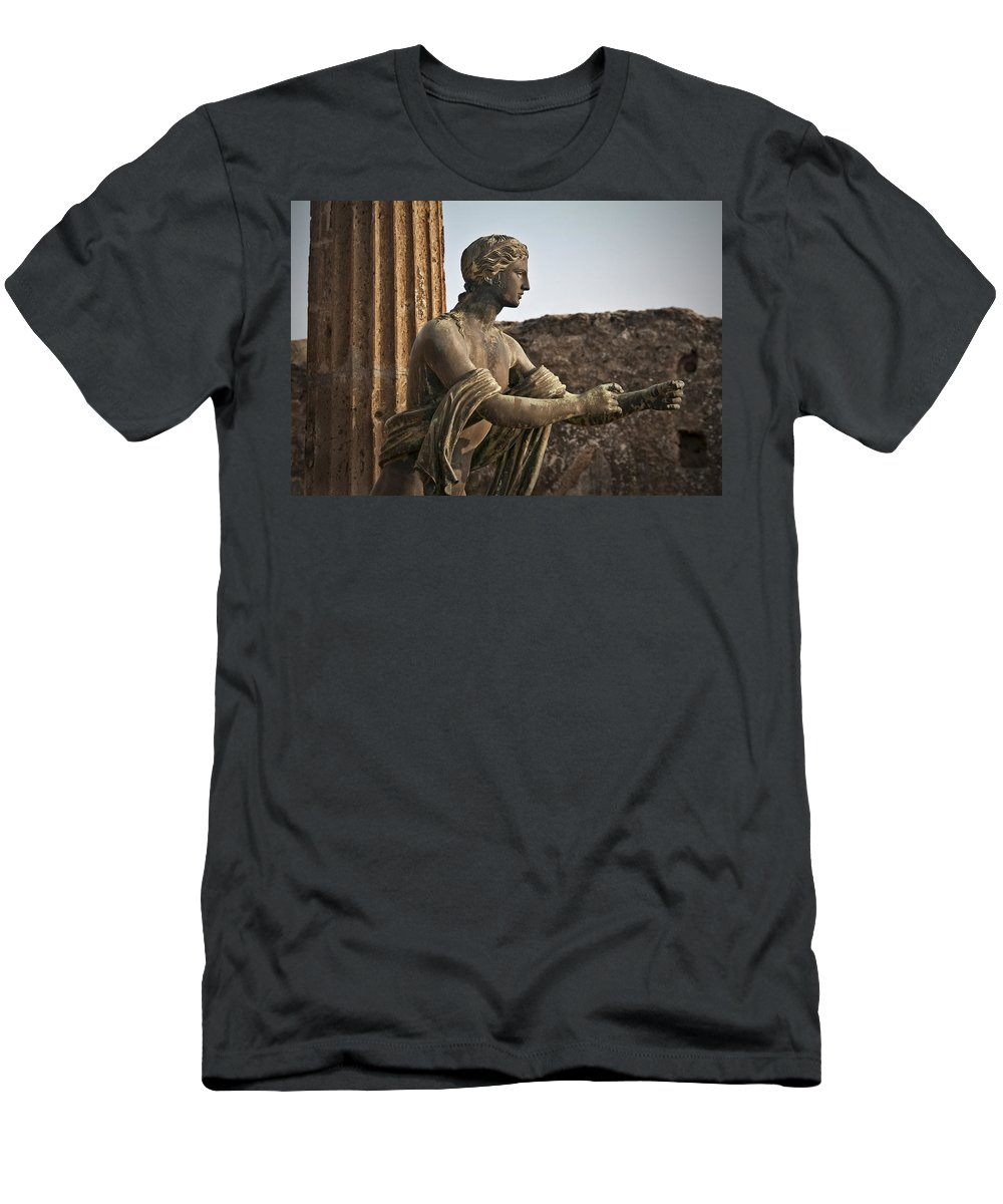 Apollo Men's T-Shirt (Athletic Fit) featuring the photograph Apollo In Pompeii by Steven Sparks
