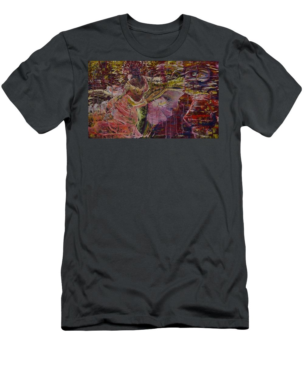 Portrait T-Shirt featuring the painting April 29th. by Peggy Blood