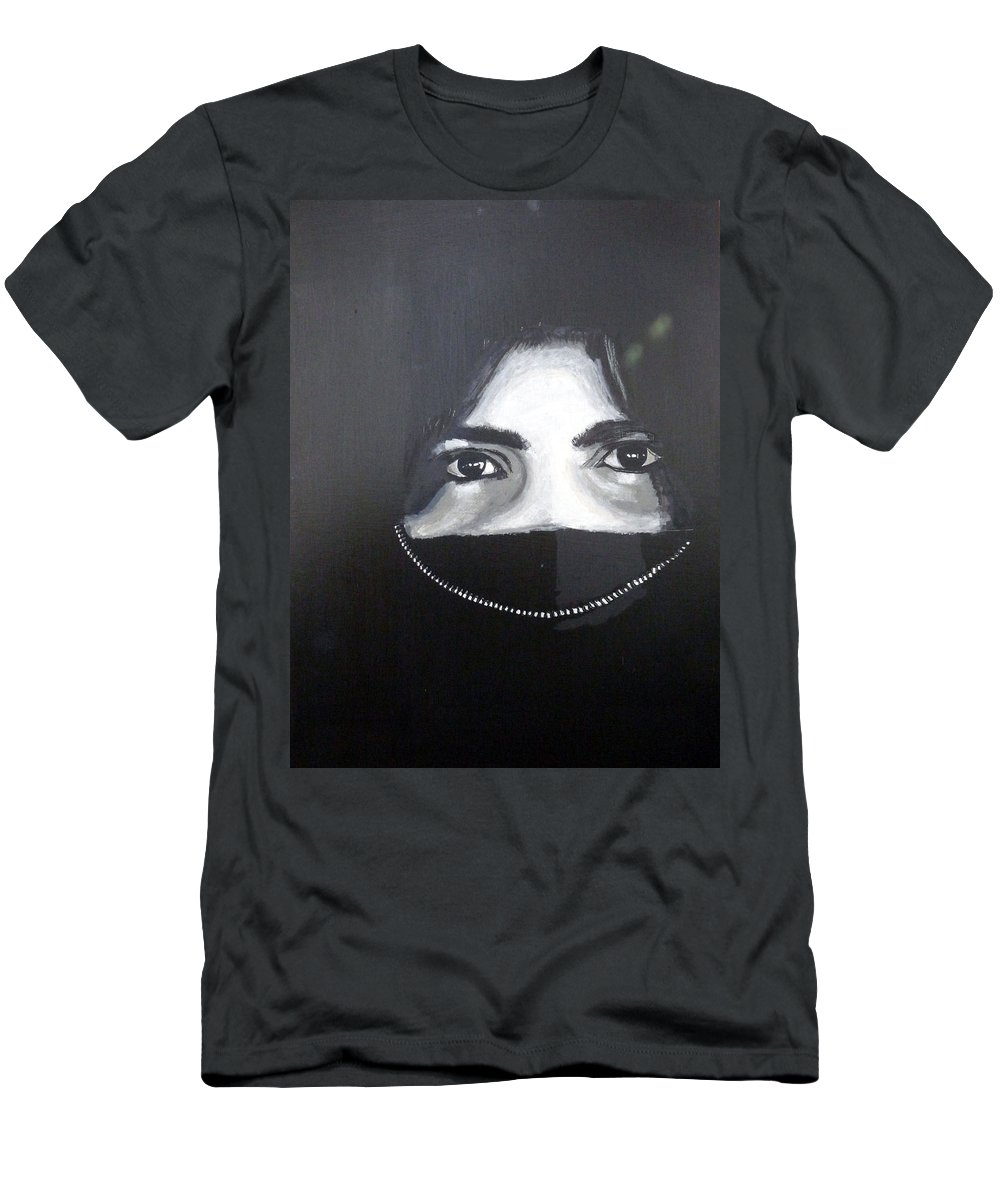 Arab Men's T-Shirt (Athletic Fit) featuring the painting Arab Girl by Richard Le Page