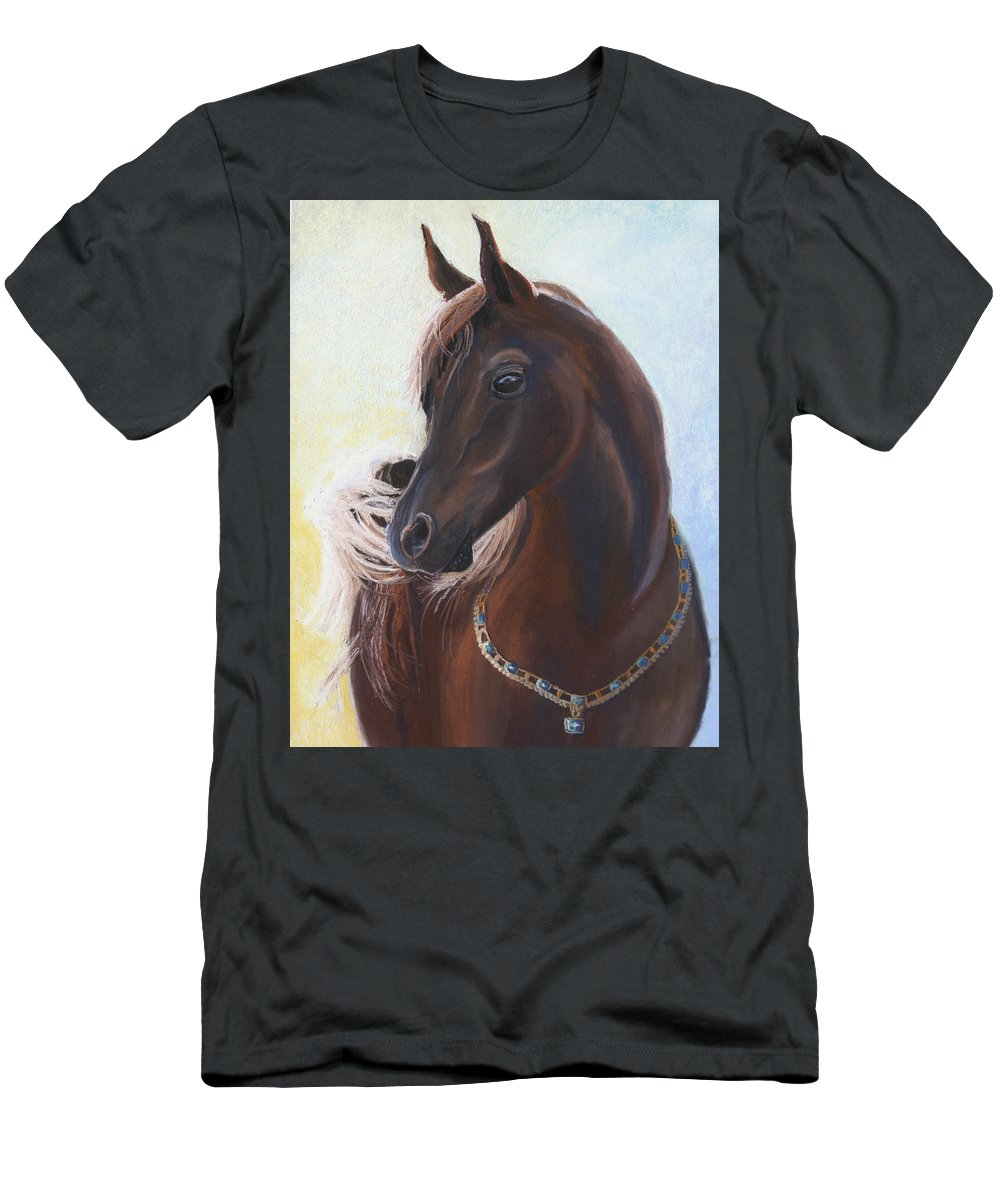 Horse Men's T-Shirt (Athletic Fit) featuring the painting Arabian Prince by Heather Coen