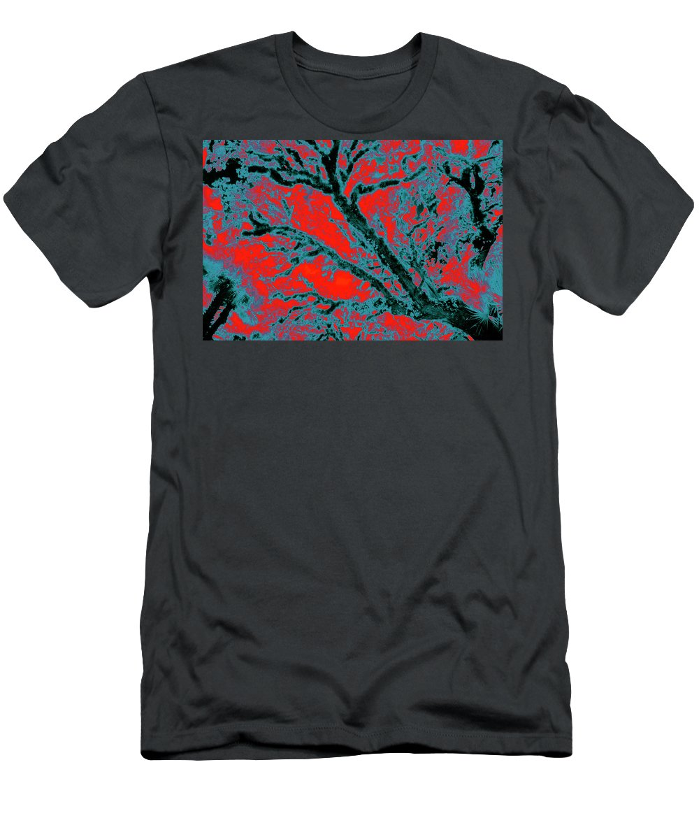 Trees Men's T-Shirt (Athletic Fit) featuring the photograph Arboreal Plateau 6 by Gary Bartoloni