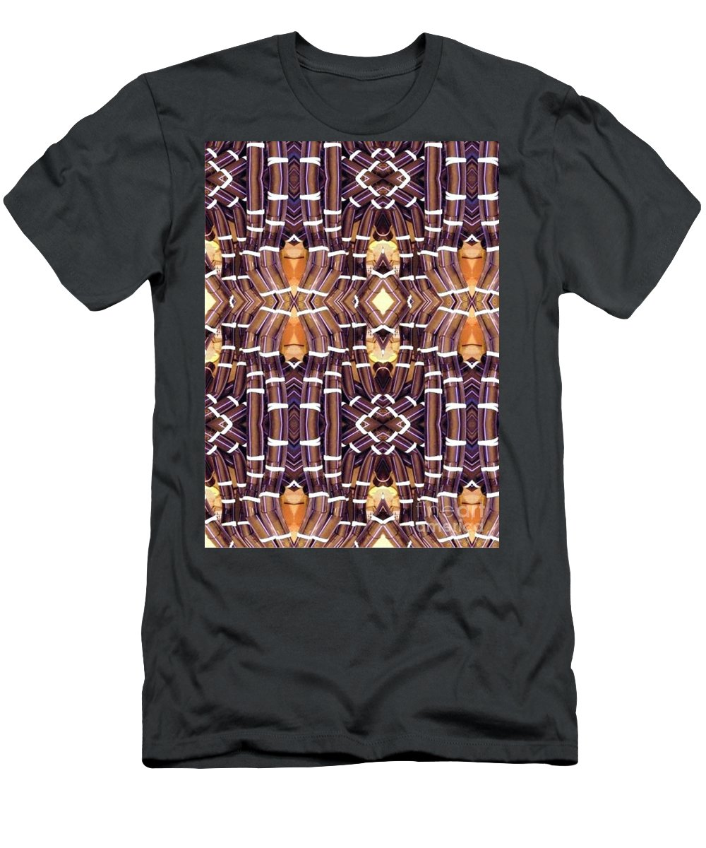 Abstract Men's T-Shirt (Athletic Fit) featuring the digital art Arctic Pipe by Ron Bissett
