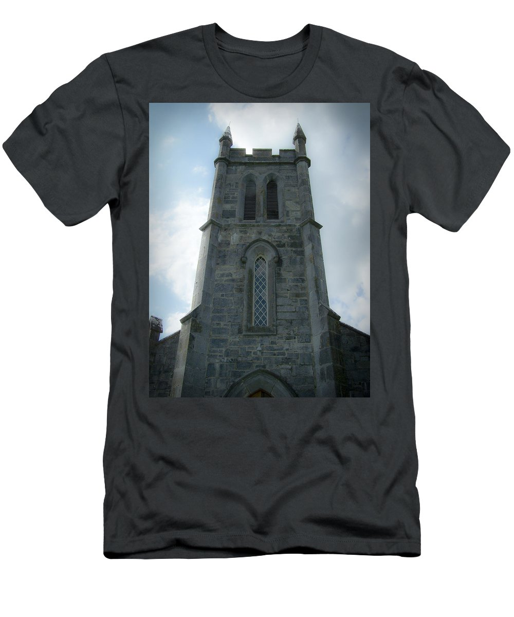 Irish Men's T-Shirt (Athletic Fit) featuring the photograph Ardcroney Church County Clare Ireland by Teresa Mucha