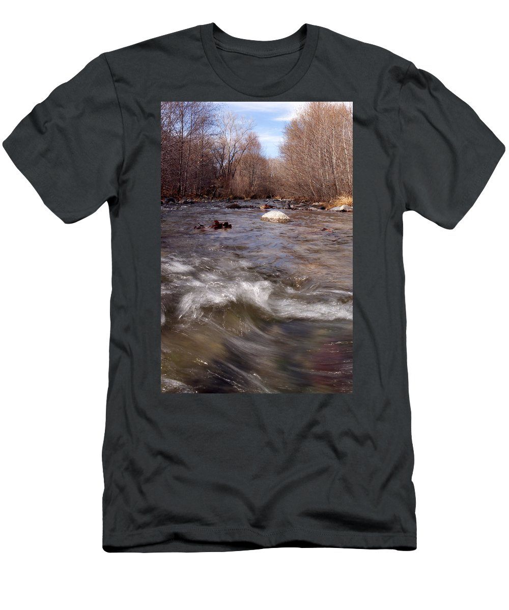 Creek Men's T-Shirt (Athletic Fit) featuring the photograph Arizona Creek by Scott Sawyer