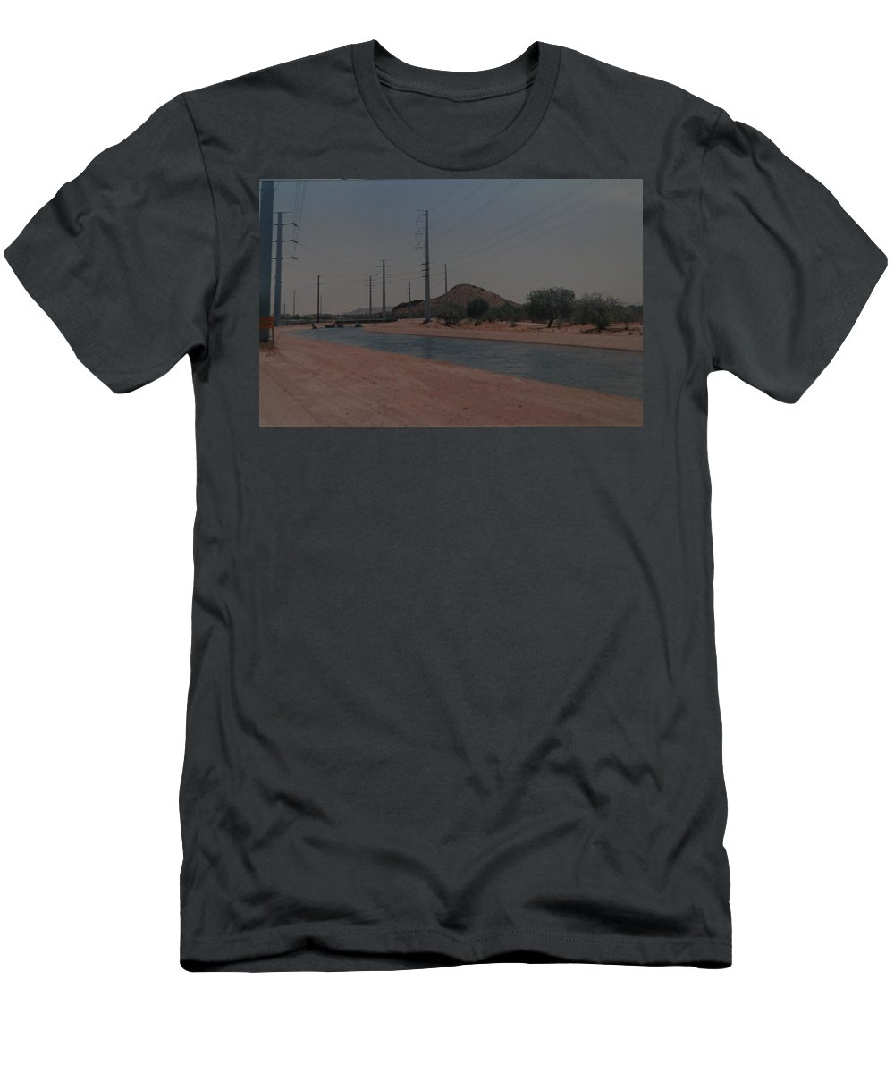 Arizona Men's T-Shirt (Athletic Fit) featuring the photograph Arizona Waterway by Rob Hans