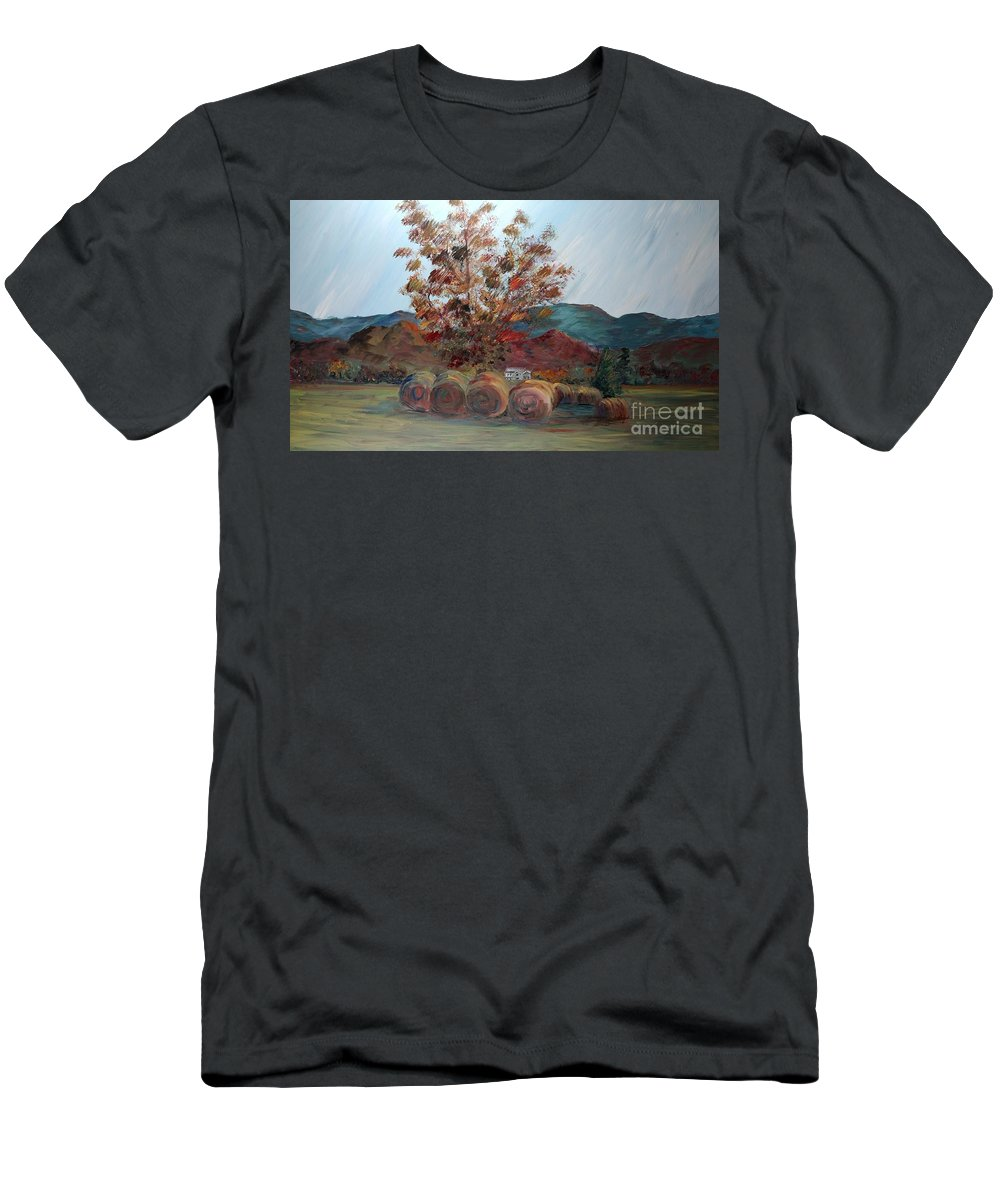 Autumn T-Shirt featuring the painting Arkansas Autumn by Nadine Rippelmeyer