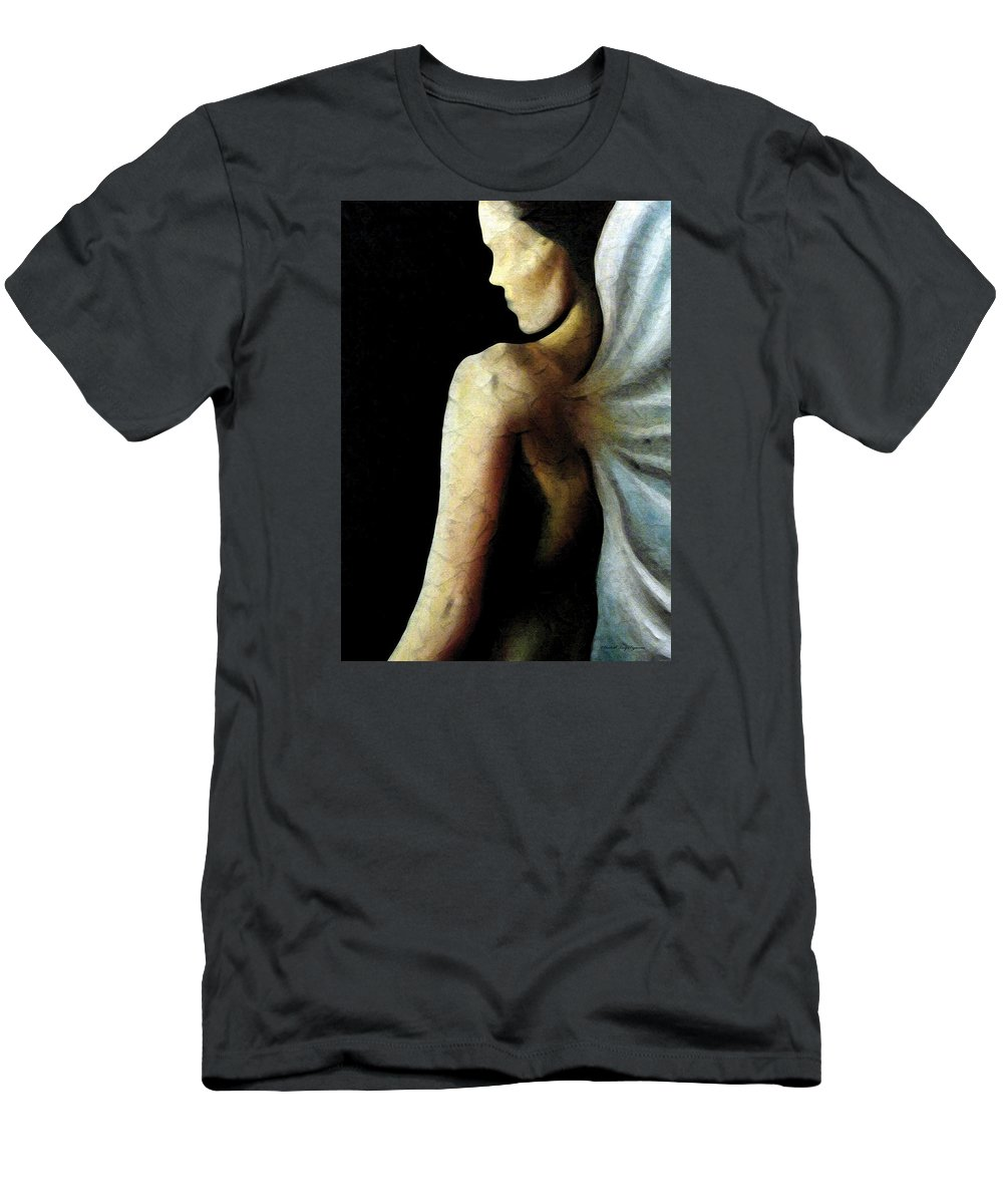 Angel Men's T-Shirt (Athletic Fit) featuring the painting Armaita Angel Of Truth Wisdom And Goodness by Elizabeth Lisy Figueroa