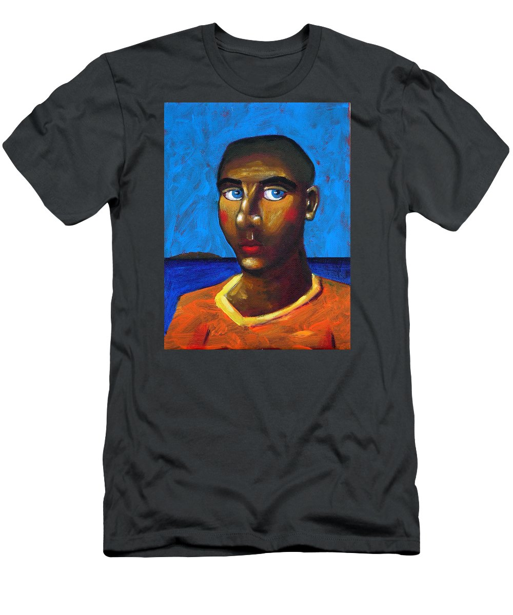 Arsonist Men's T-Shirt (Athletic Fit) featuring the painting Arsonist by Dimitris Milionis