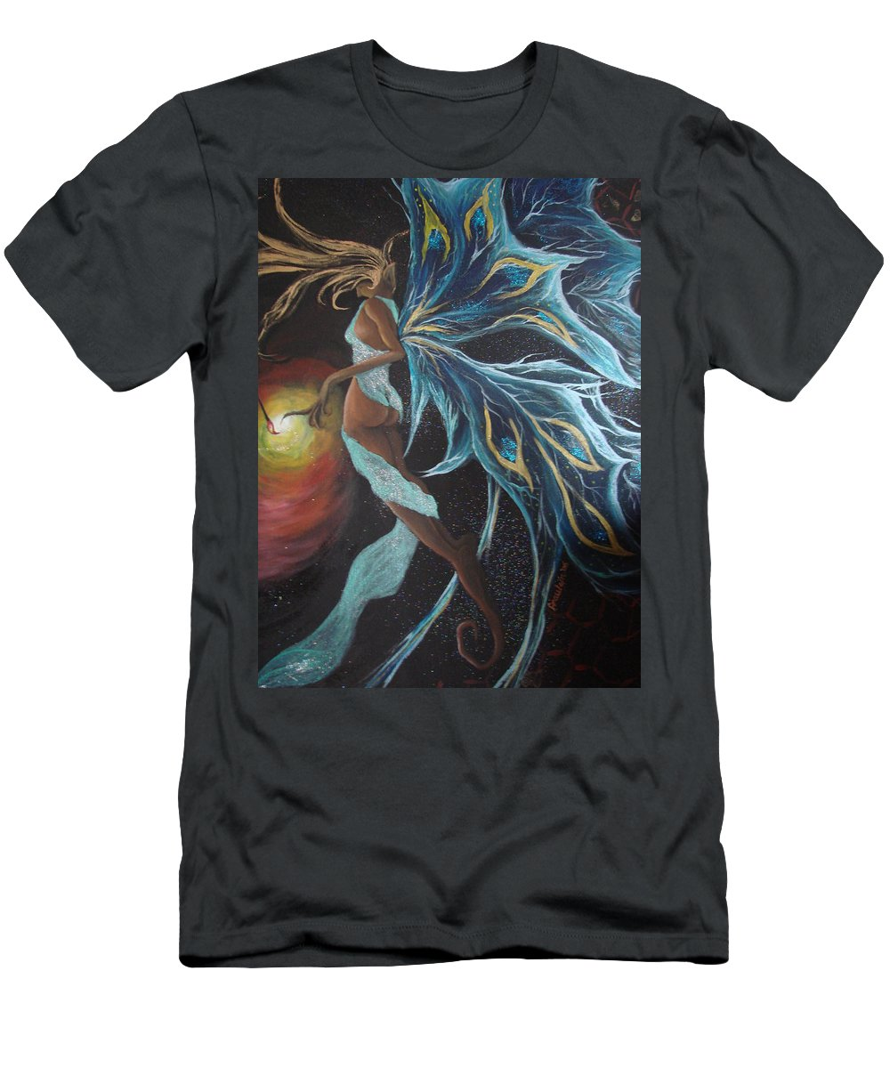 Figure Men's T-Shirt (Athletic Fit) featuring the painting Art Is Magic by Glory Fraulein Wolfe